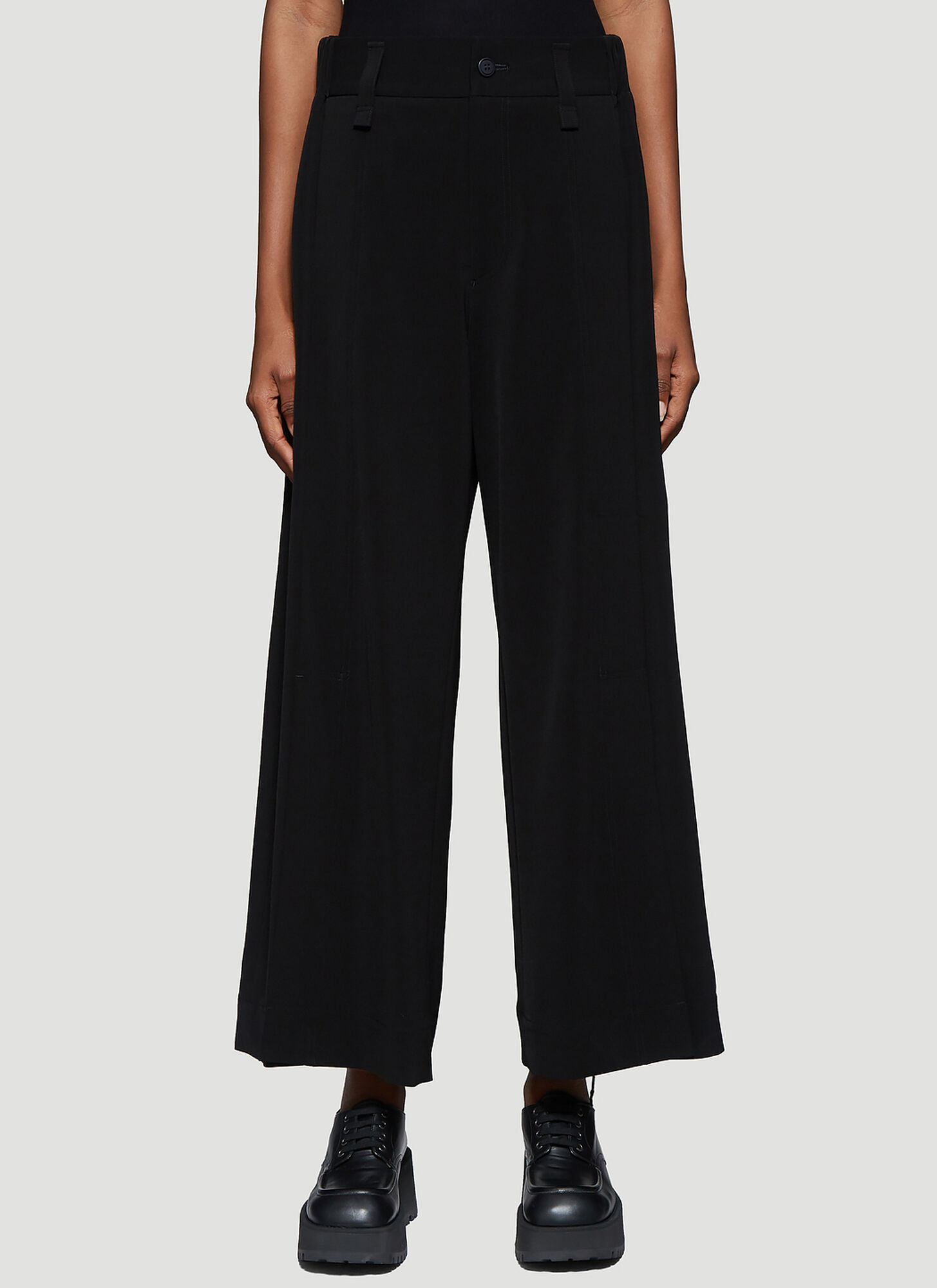 Issey Miyake Front Pleat Tailored Pants in Black