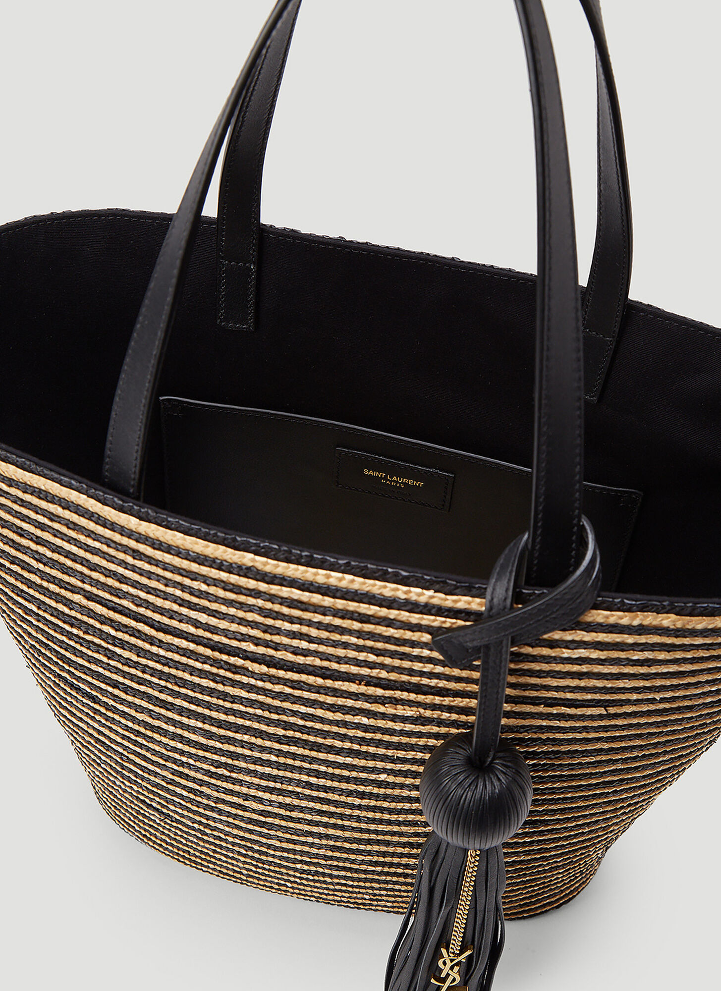 Saint Laurent Raffia Tote Bag