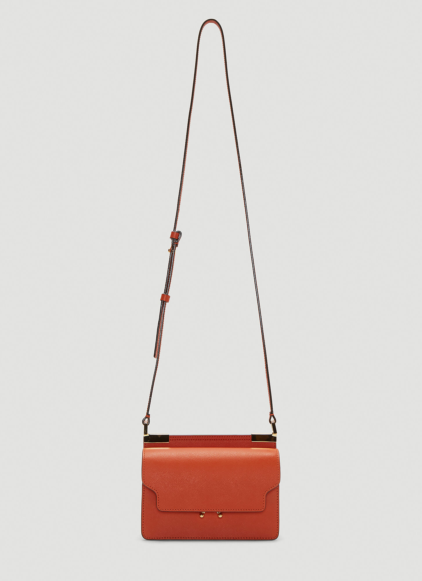 Marni Slim Mini Trunk Bag in Orange