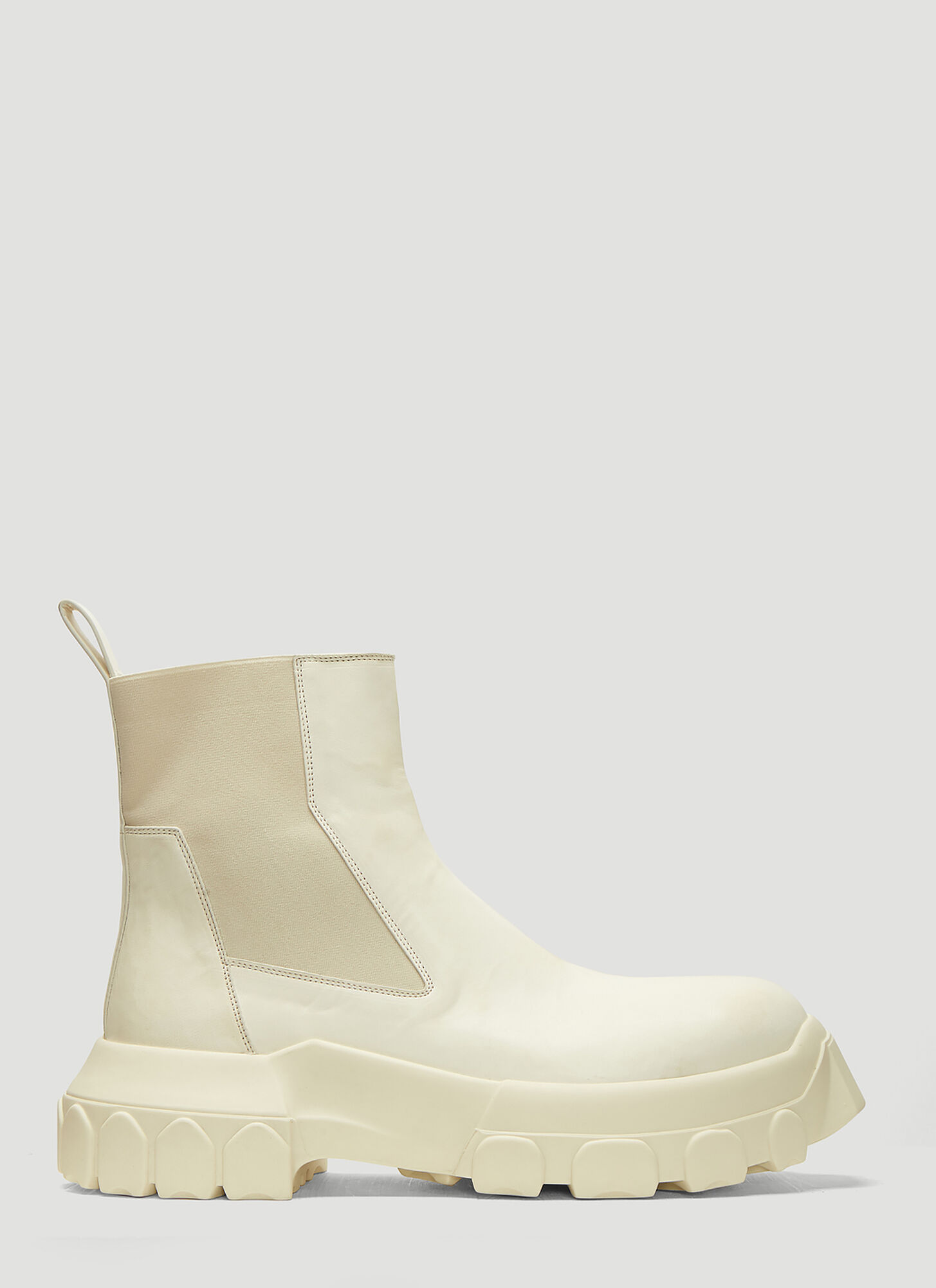 Rick Owens Bozo Tractor Beetle Boots in White