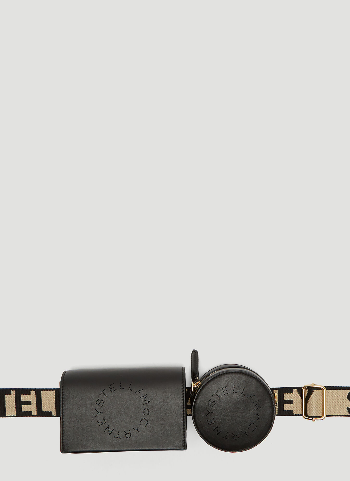 Stella McCartney Faux-Leather Utility Belt Bag in Black