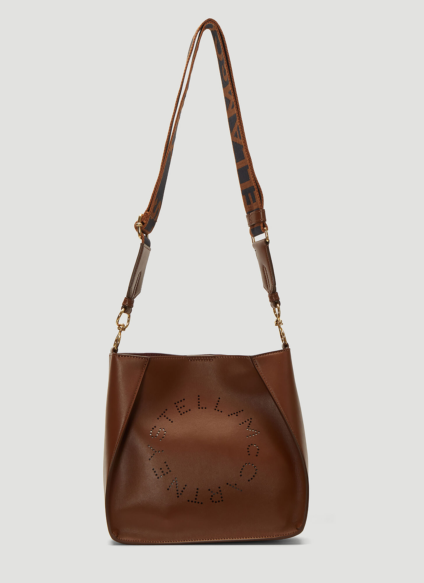 Stella McCartney Front Logo Crossbody Bag in Brown