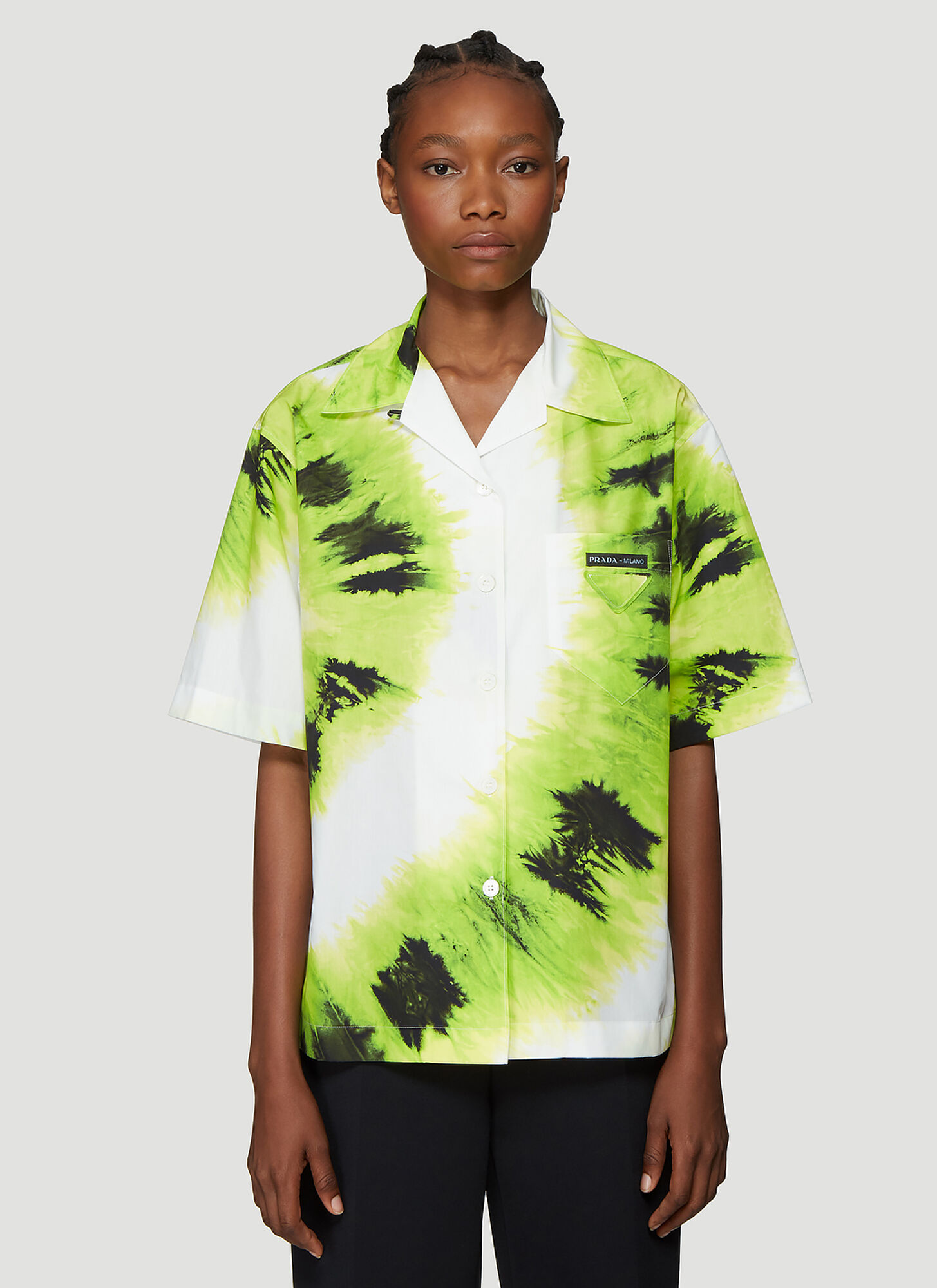 Prada Tie Dye Shirt in Green