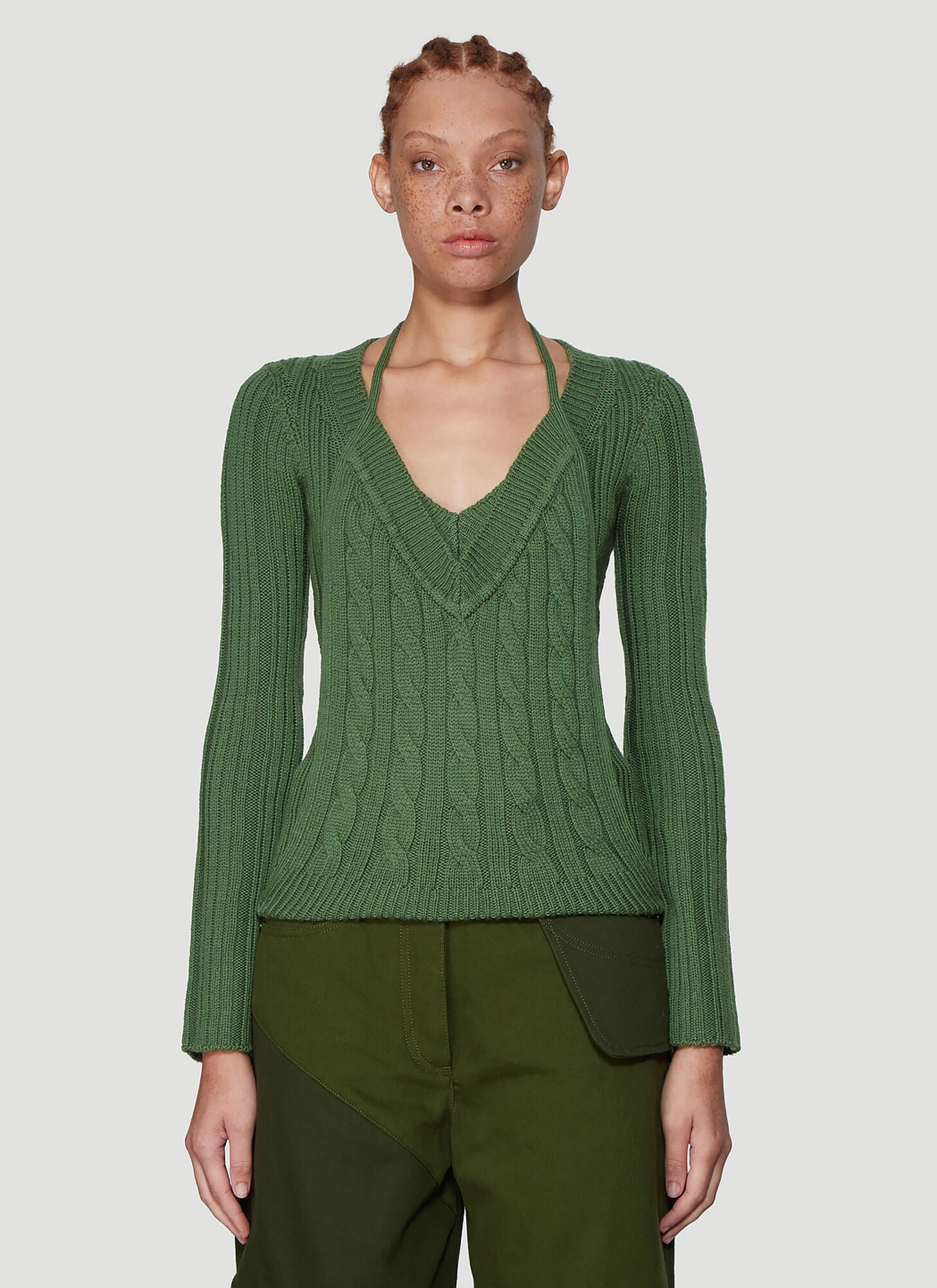 Jacquemus La Double Maille Knit Sweater in Green