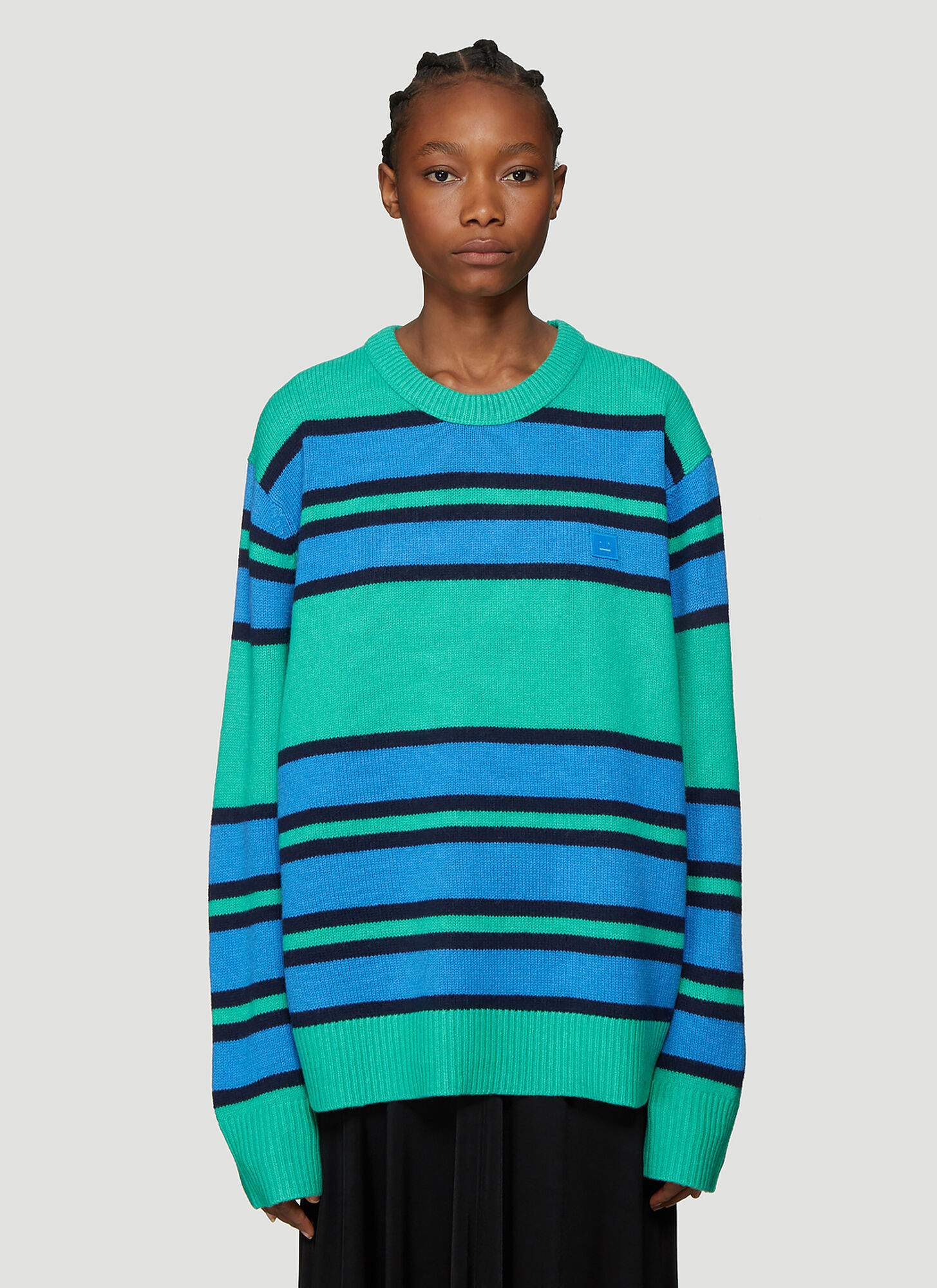 Acne Studios Nimah Striped Sweater in Green