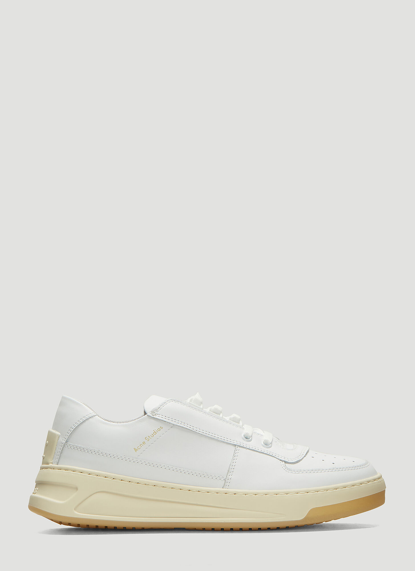 Acne Studios Steffey Lace Up Fastening Sneakers in White
