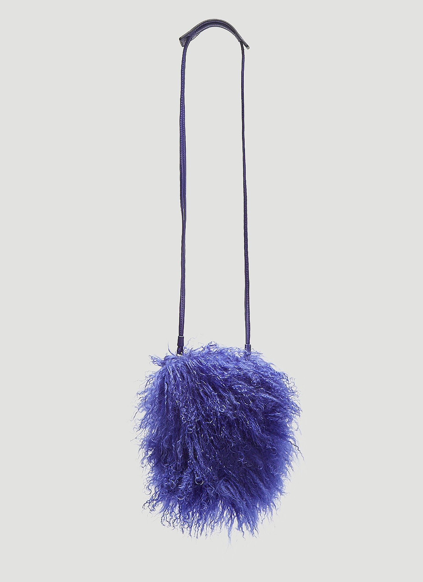 Photo of Kara Shearling Cross Body Bag in Purple - Kara Shoulder Bags