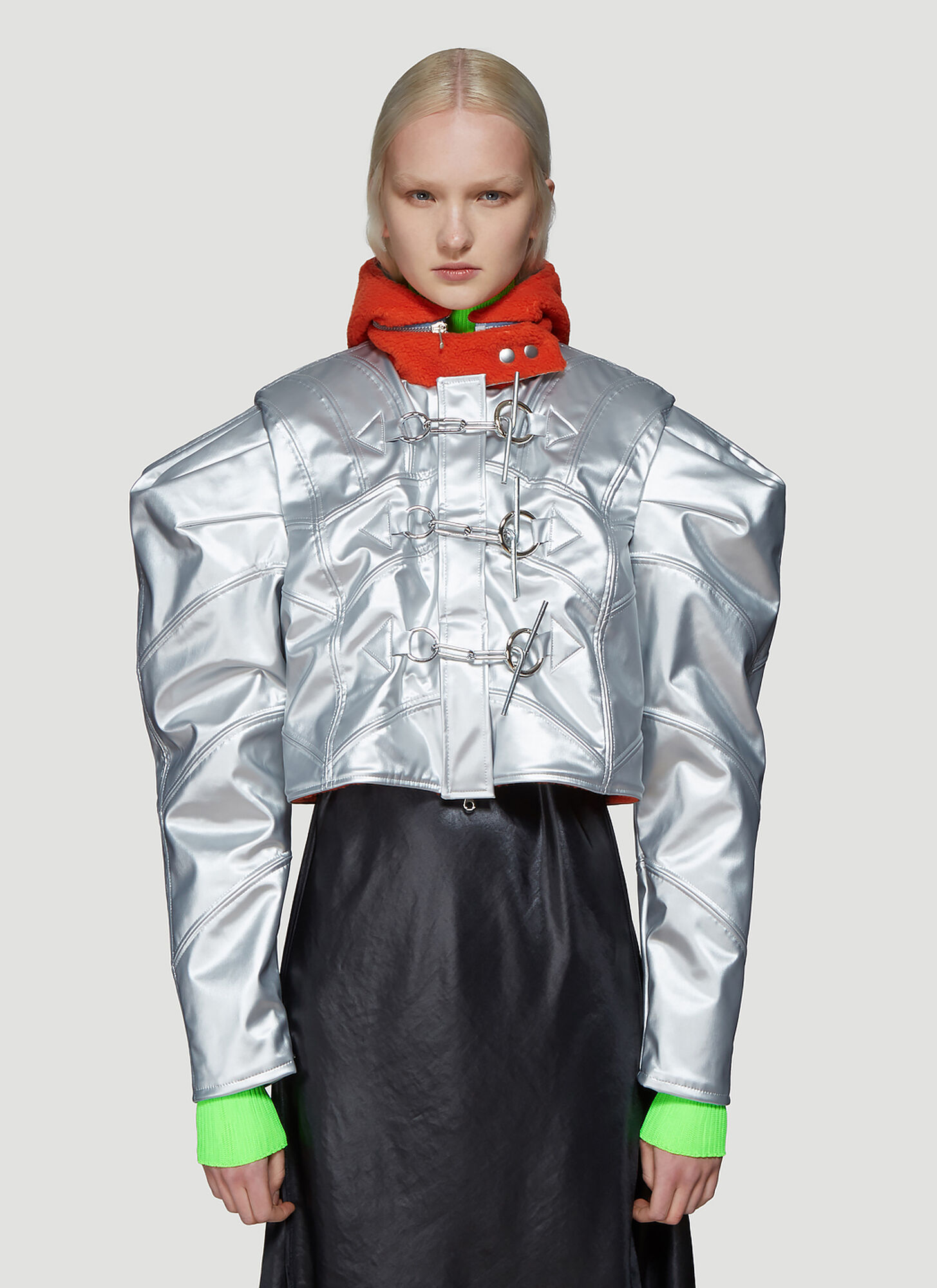Chopova Lowena Cropped Jacket in Silver
