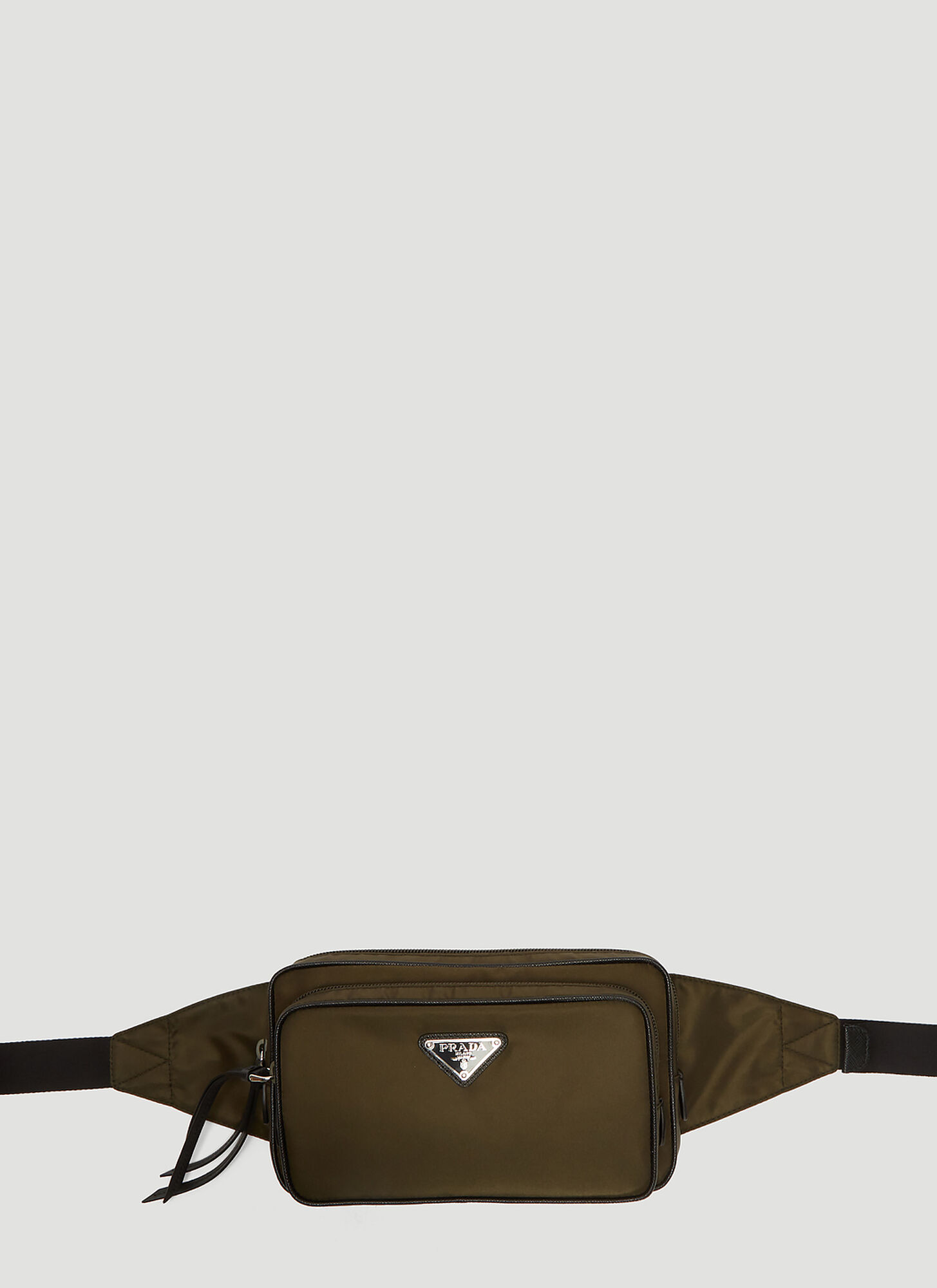 Prada Nylon Belt Bag in Green