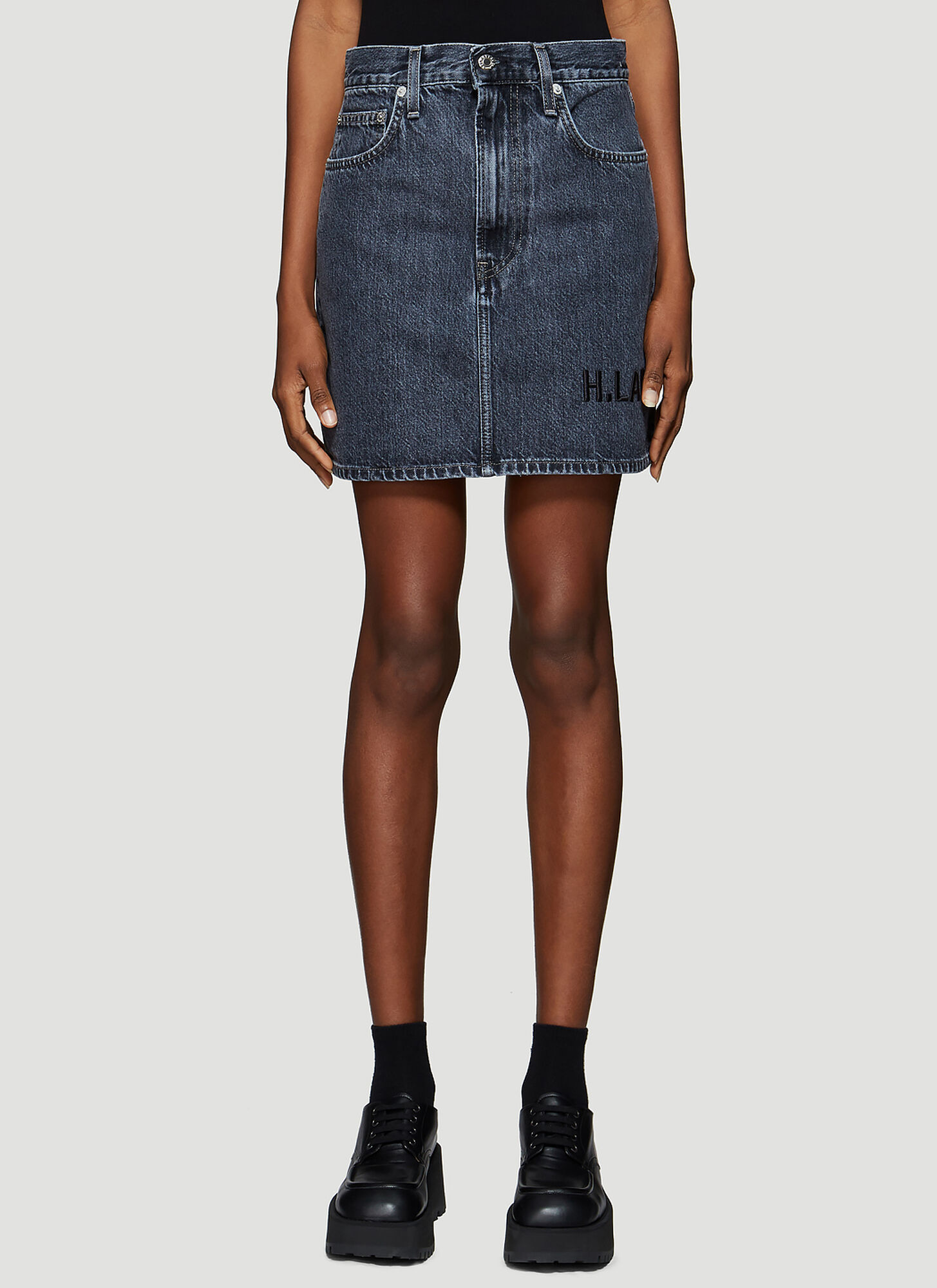 Helmut Lang Femme Denim Skirt in Blue