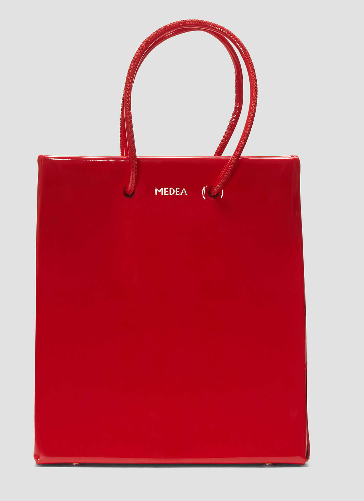 Medea Short Vinile Shopper Bag in Red