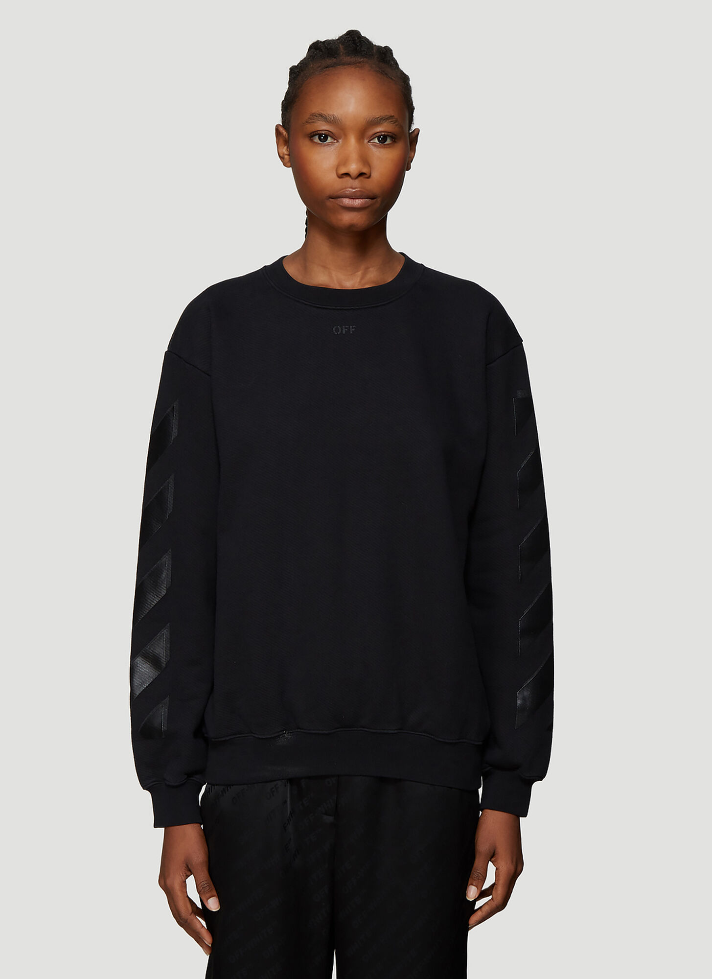 Off-White Diagonal Sweatshirt in Black