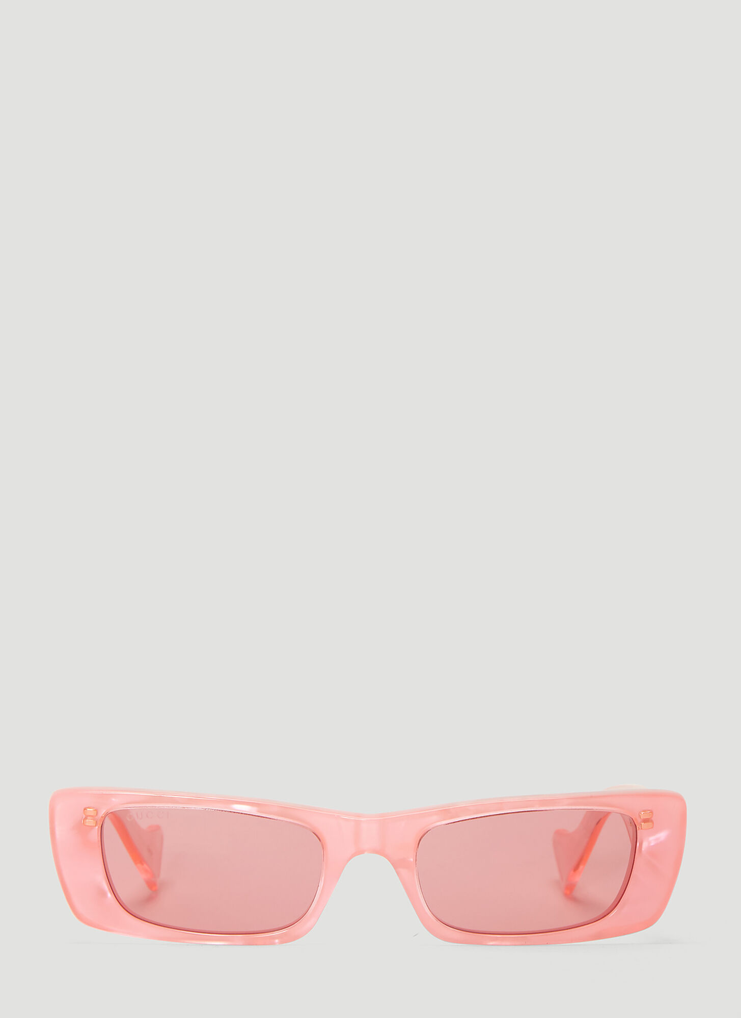 Gucci Rectangular Acetate Sunglasses in Pink