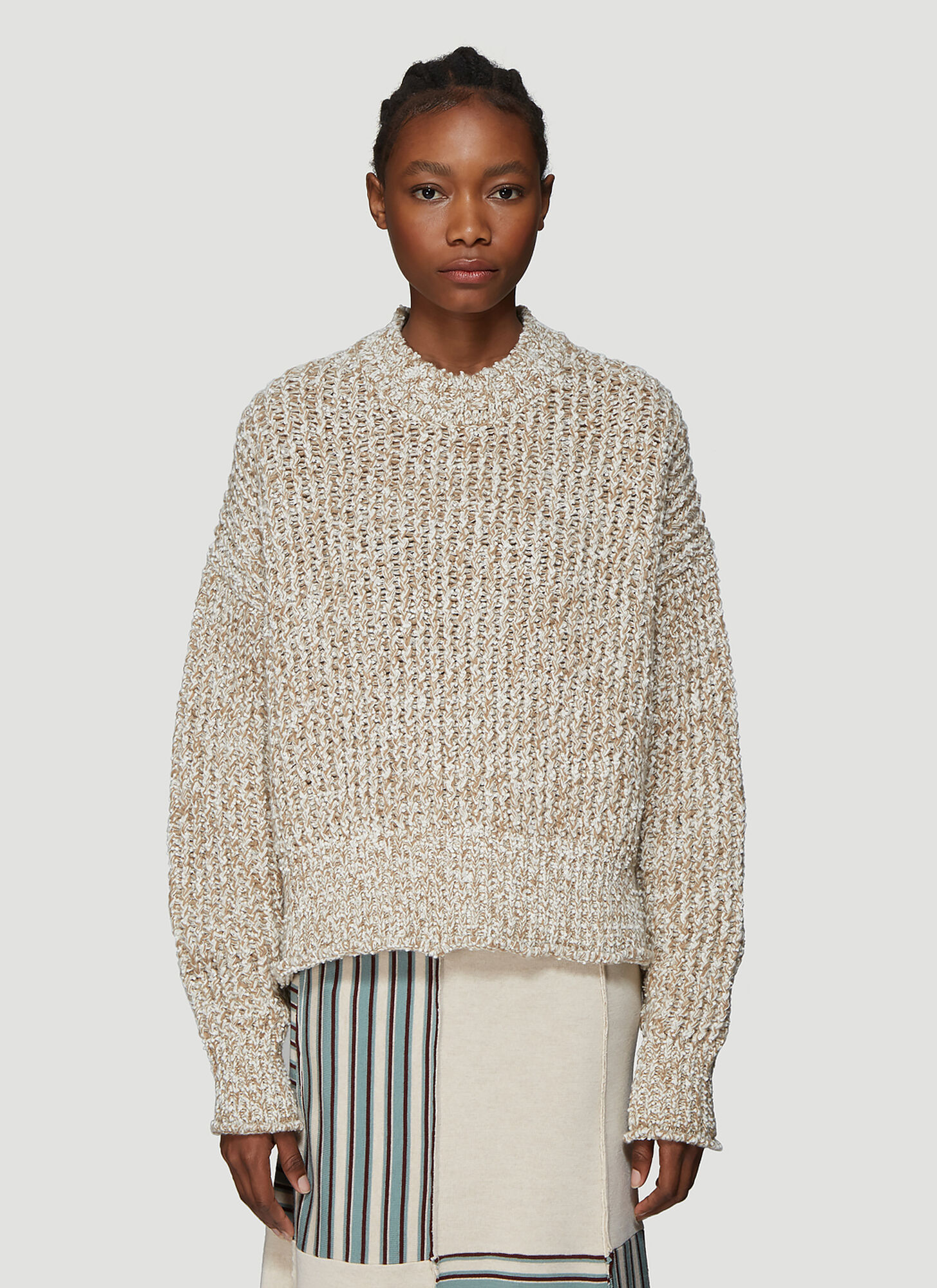 Jil Sander Chunky Knit Sweater in Beige