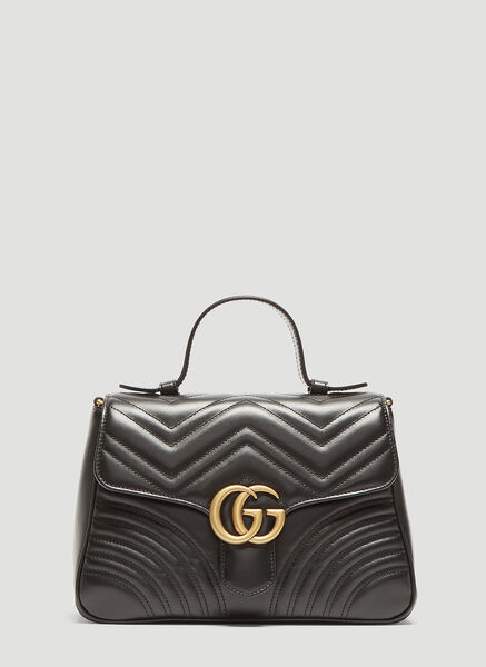Small GG Marmont Top Handle Shoulder Bag