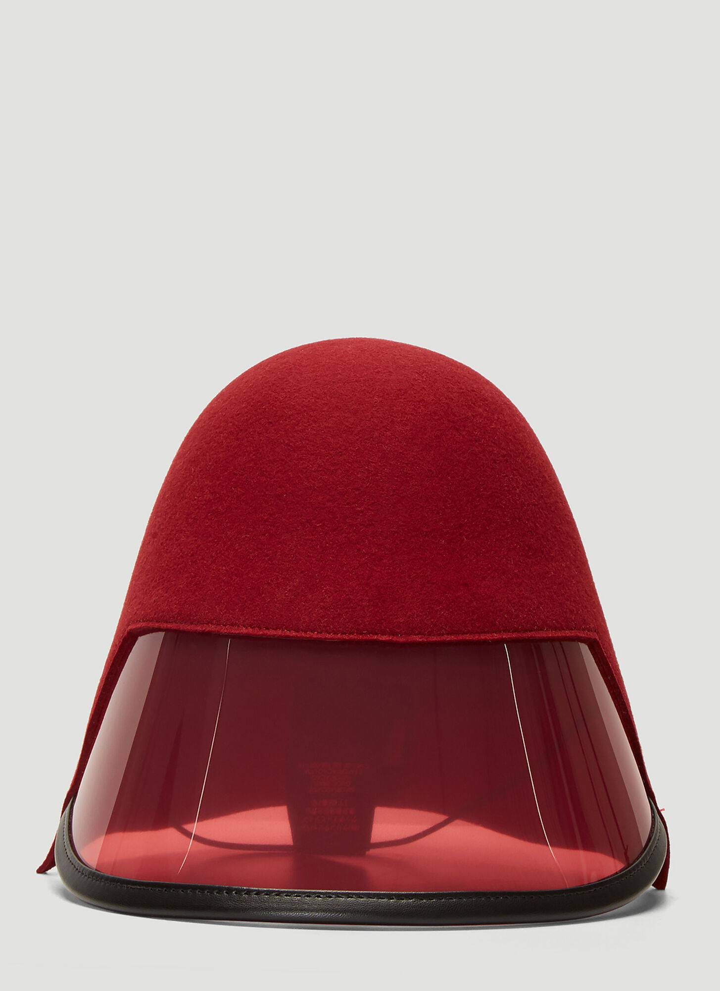Gucci Transparent Panel Visor Hat in Red
