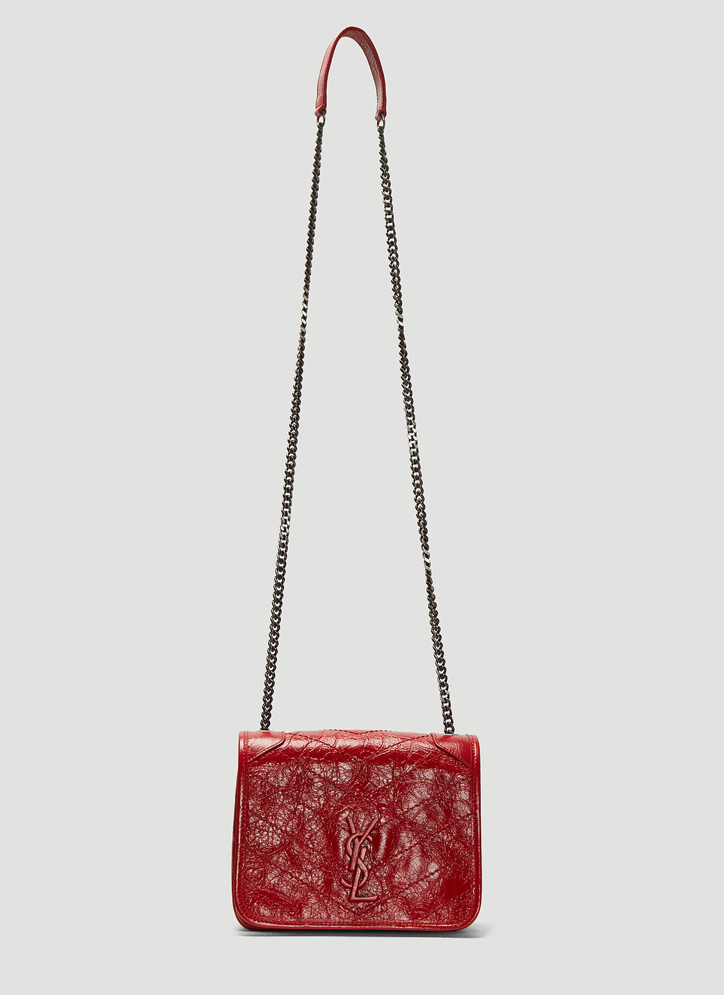 Saint Laurent Vintage Leather Niki Bag in Red