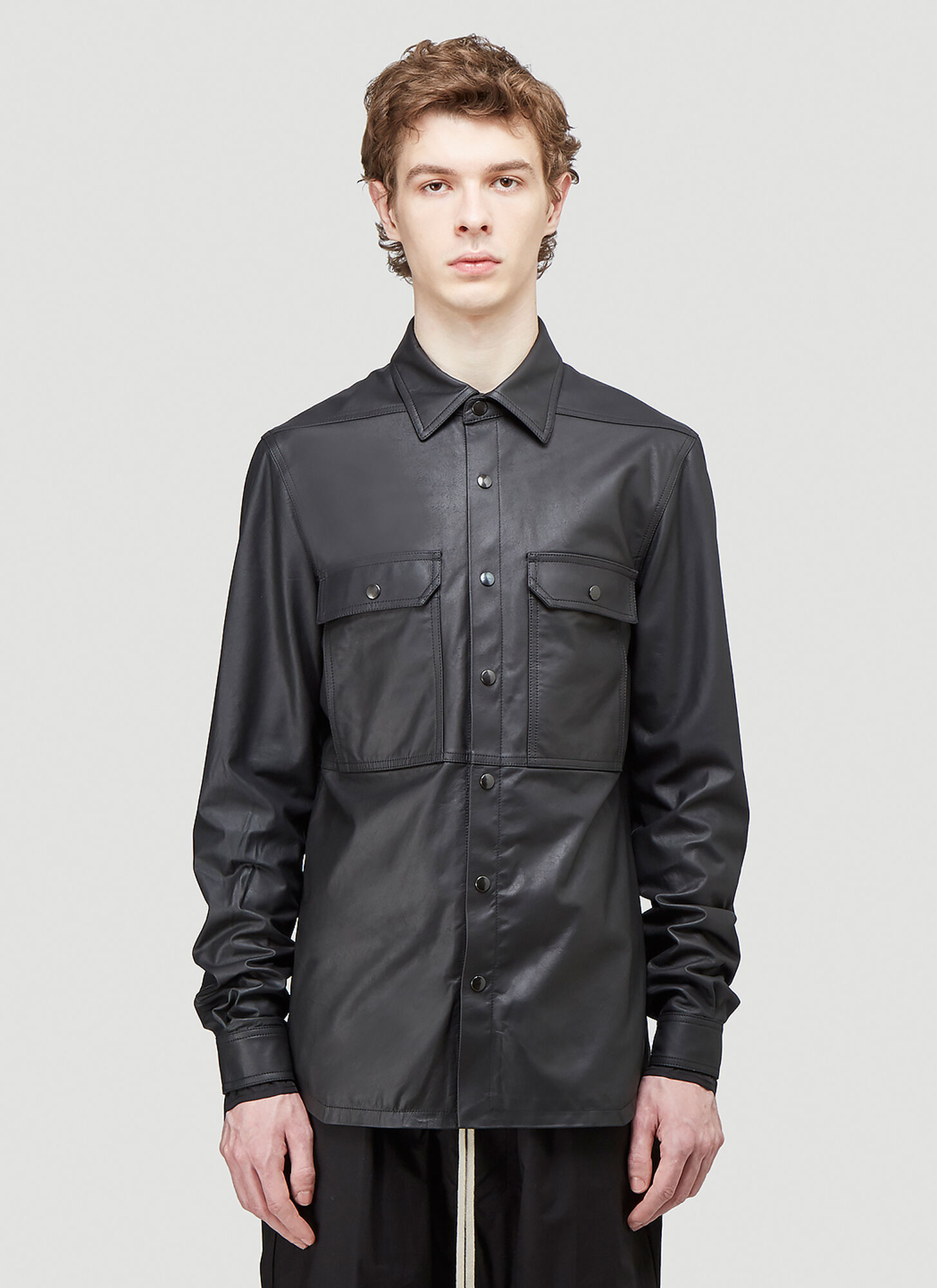 Outer Shirt in Black