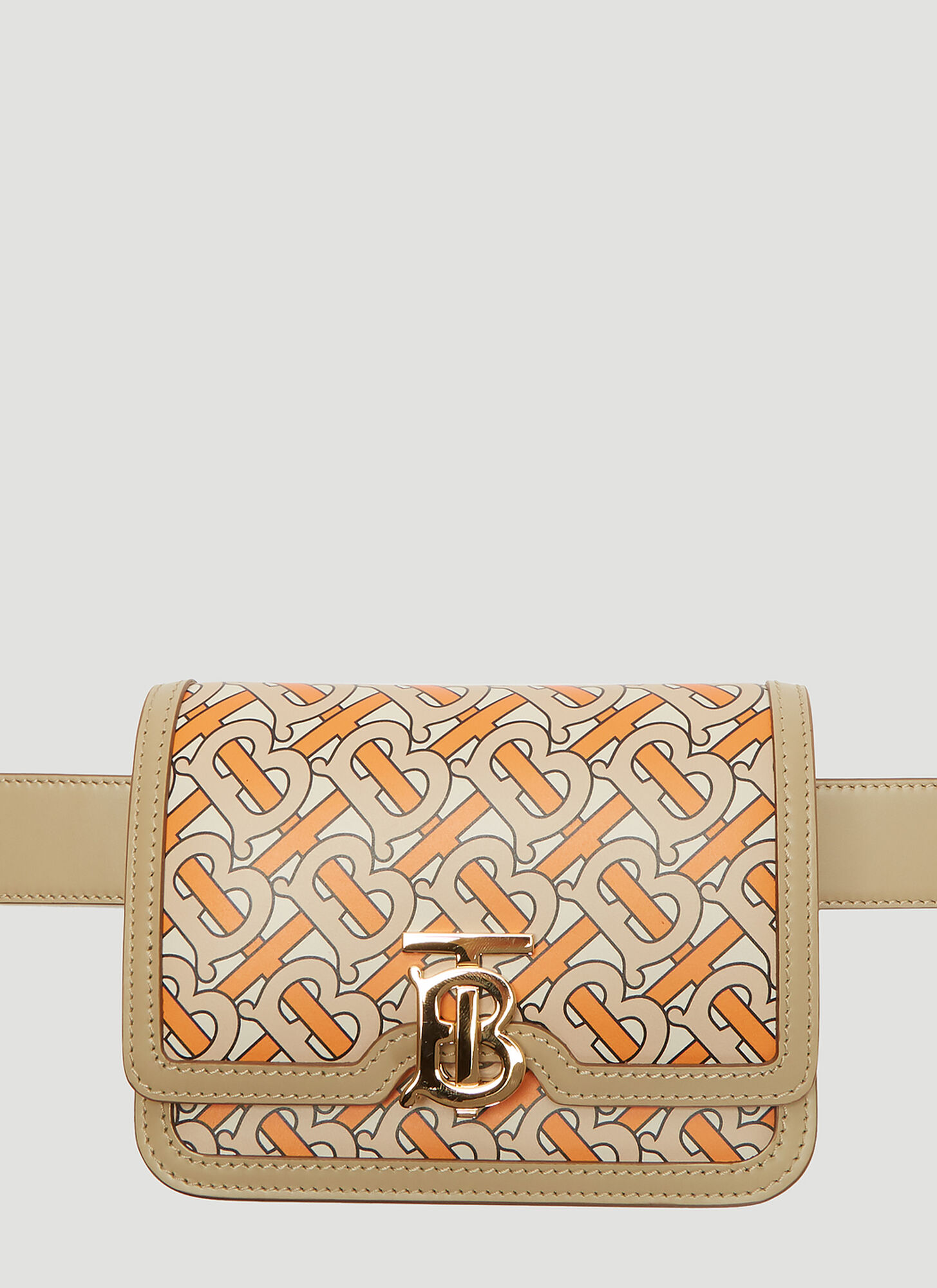 Burberry TB Monogram Print Belt Bag in Orange