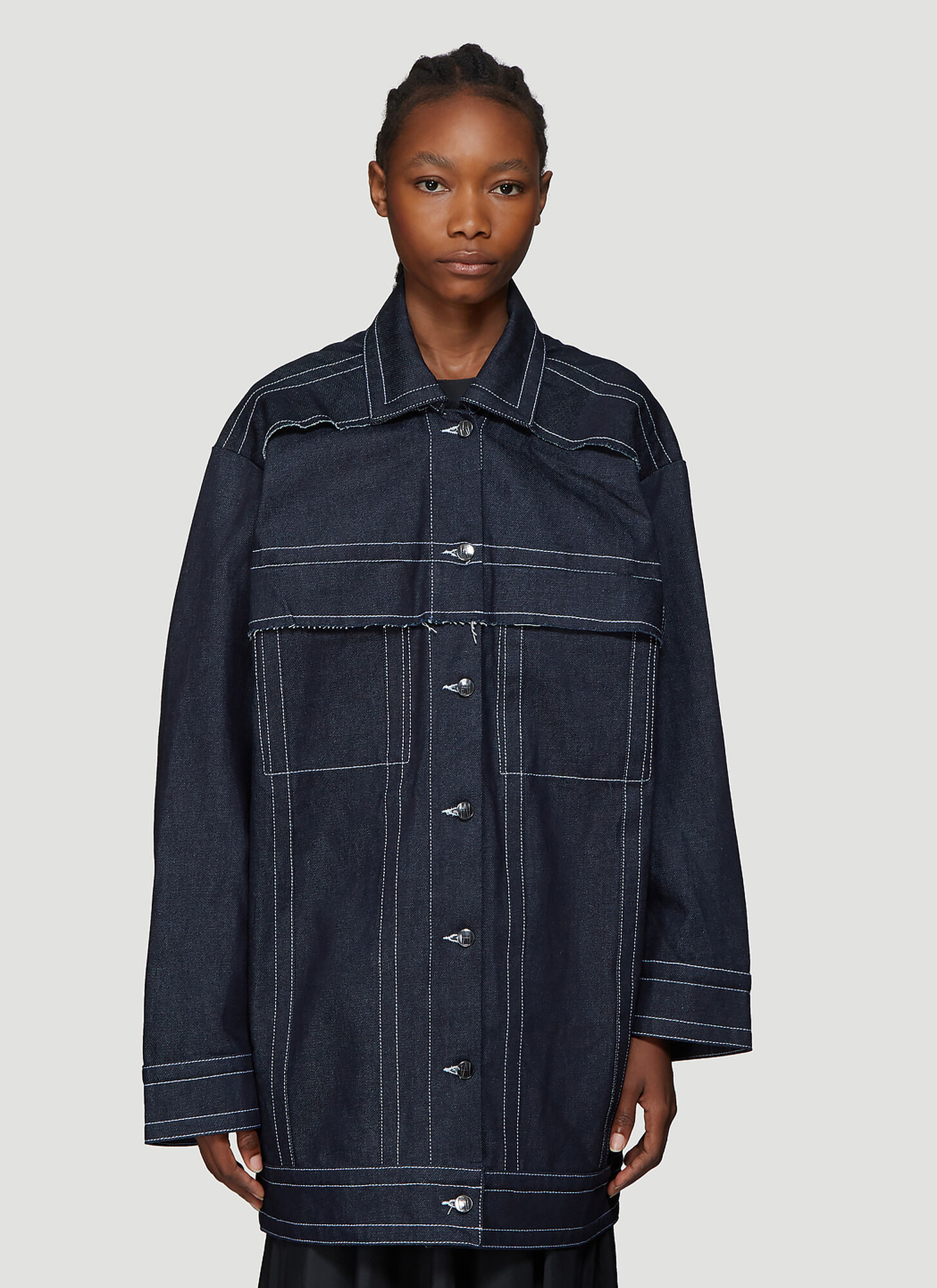 Laerke Andersen Wrap Jacket in Blue