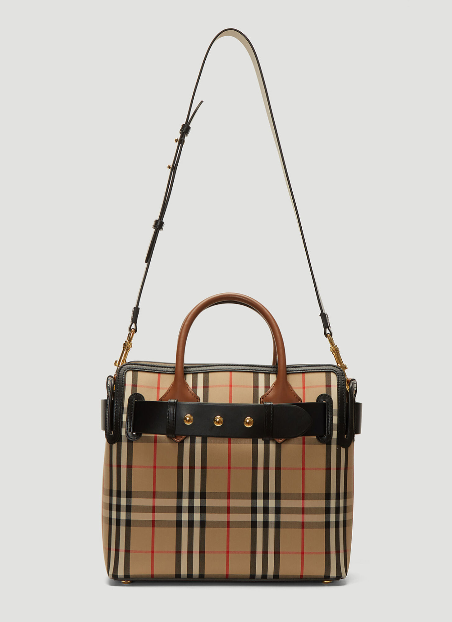 Burberry Vintage Check Tote Bag in Beige