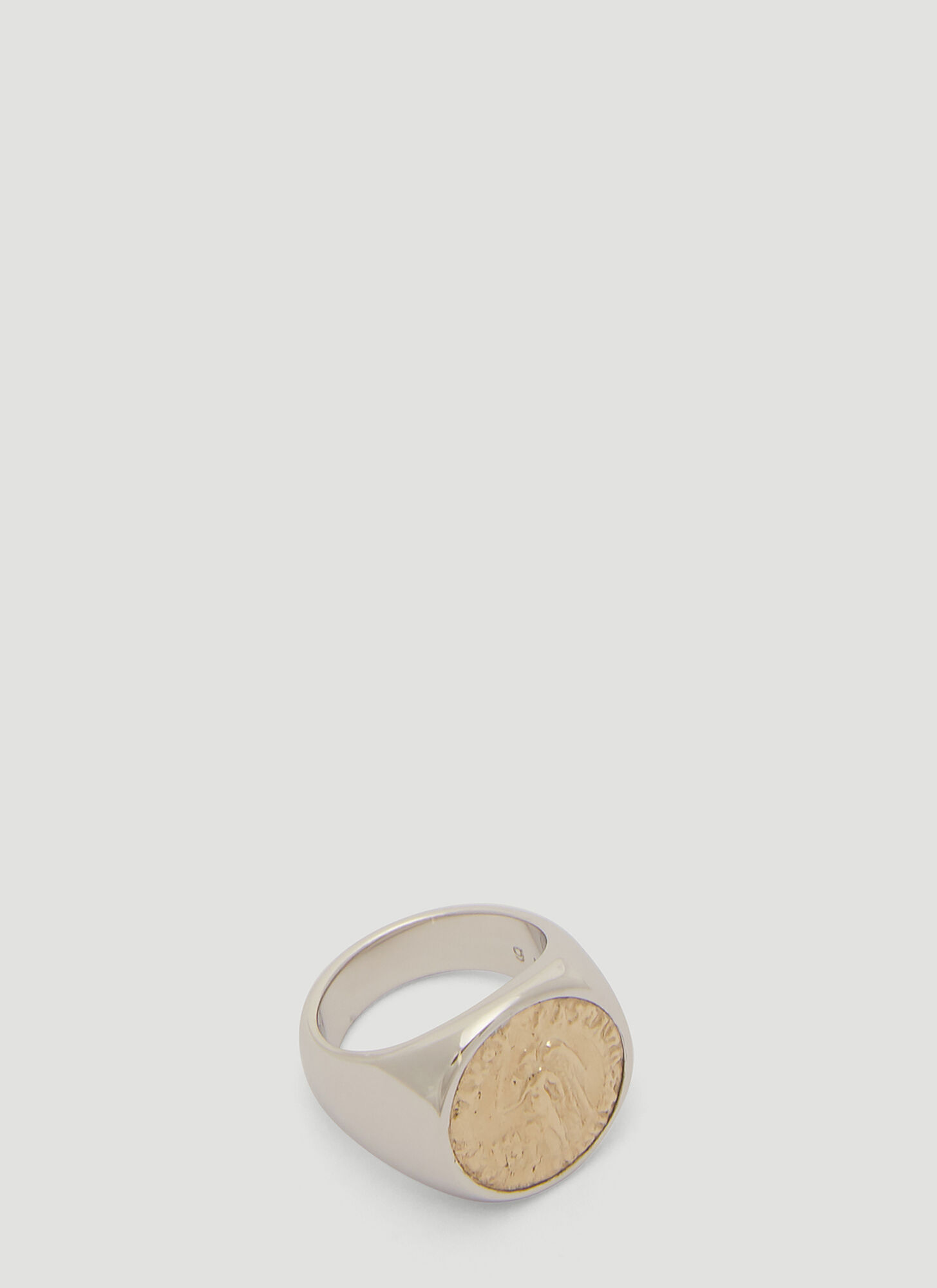 Tom Wood Angel Coin Ring in Gold