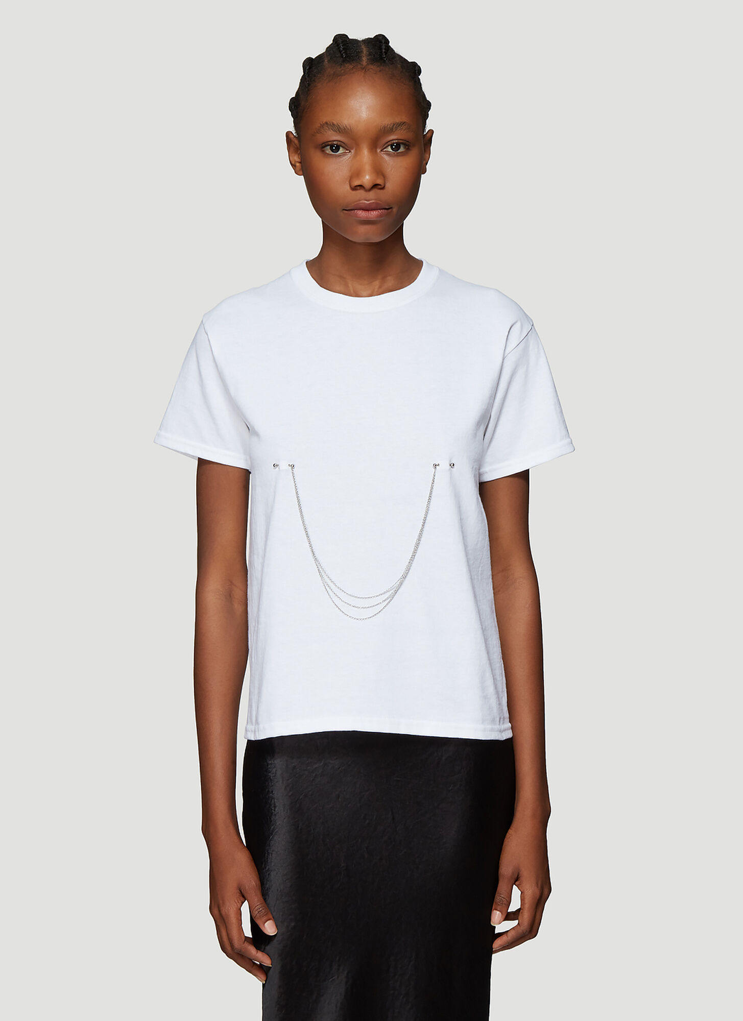 Collina Strada Pierced Chain T-Shirt in White