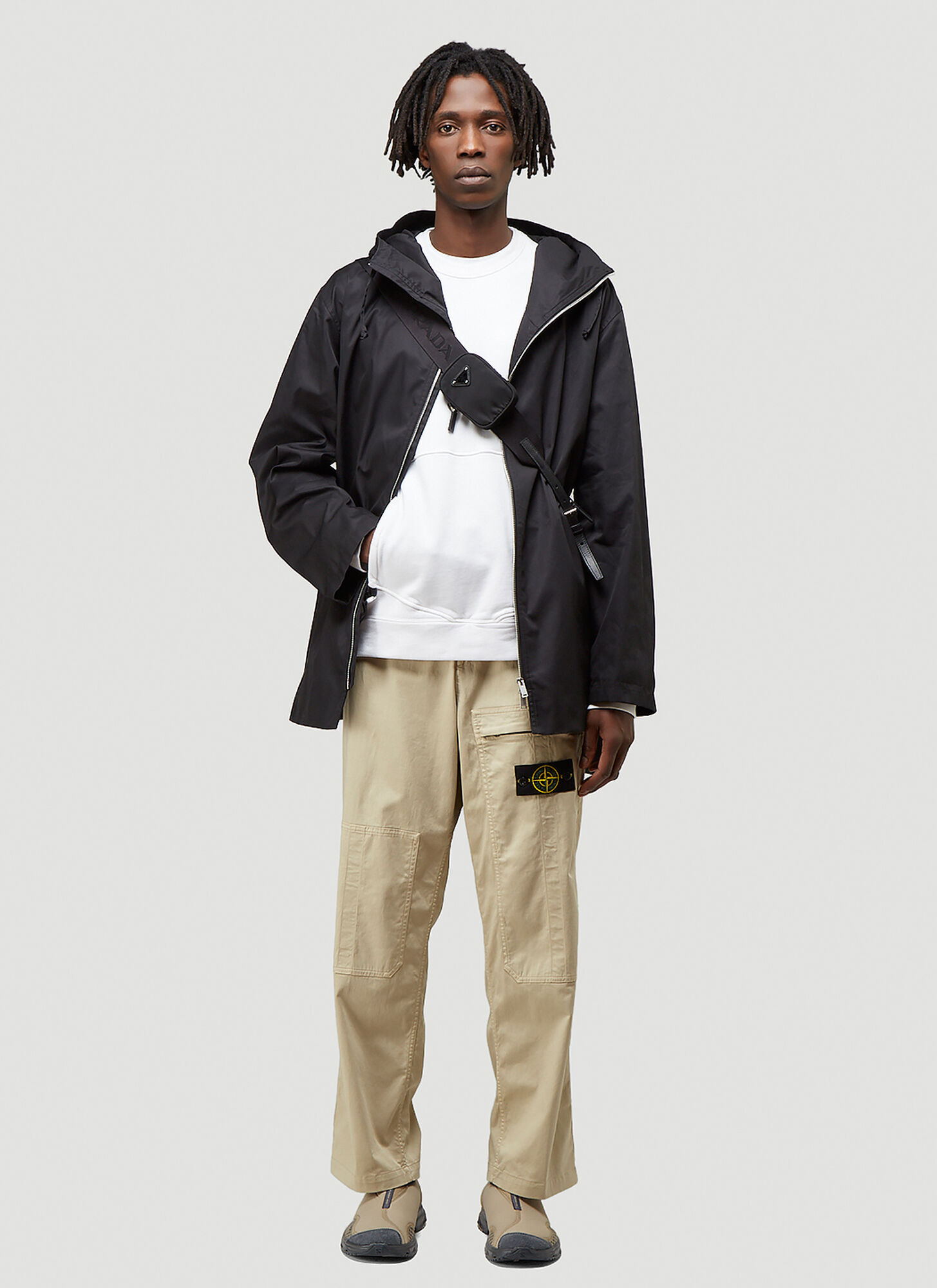 Stone Island Logo-Patch Cargo Pants