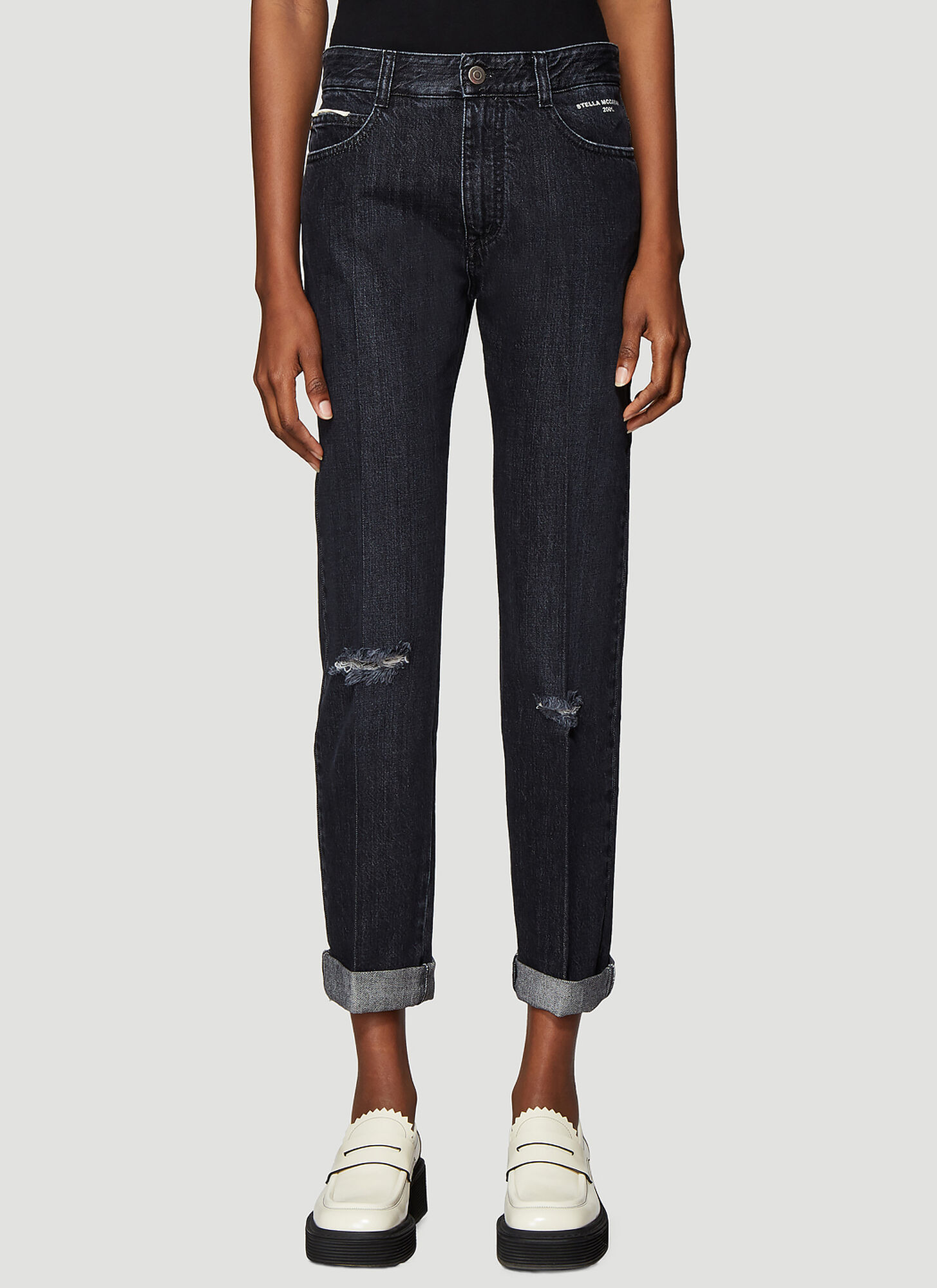 Stella McCartney Vintage Wash Jeans in Black