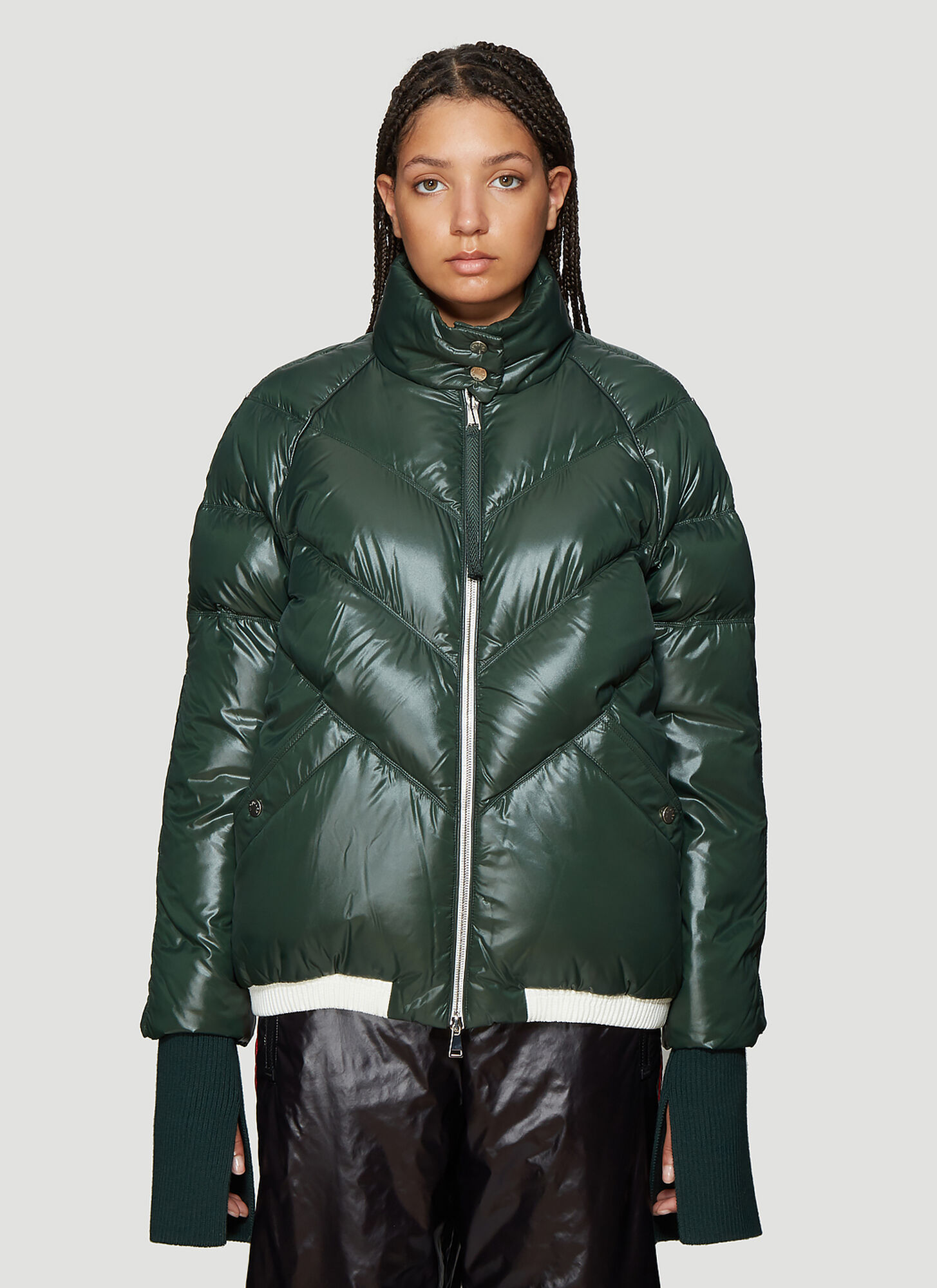 2 MONCLER 1952 Padded Down Jacket in Green