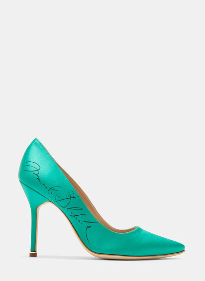 Manolo Blahnik Signature Stiletto Heeled Pumps By Vetements