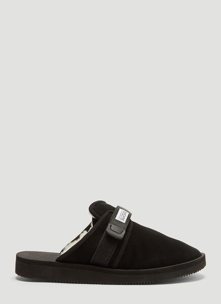Suicoke Zavo Mab Suede Sandals in Black