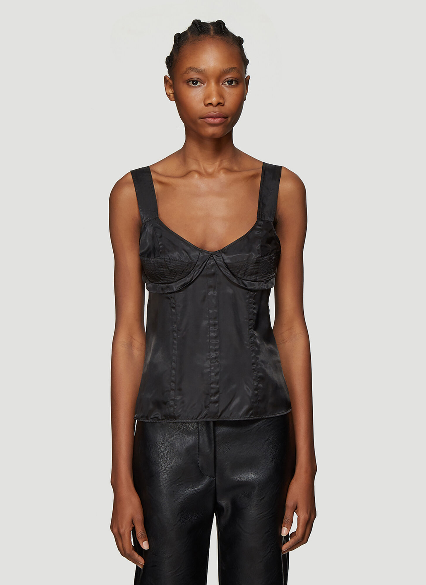 Olivier Theyskens Corset Detail Top in Black