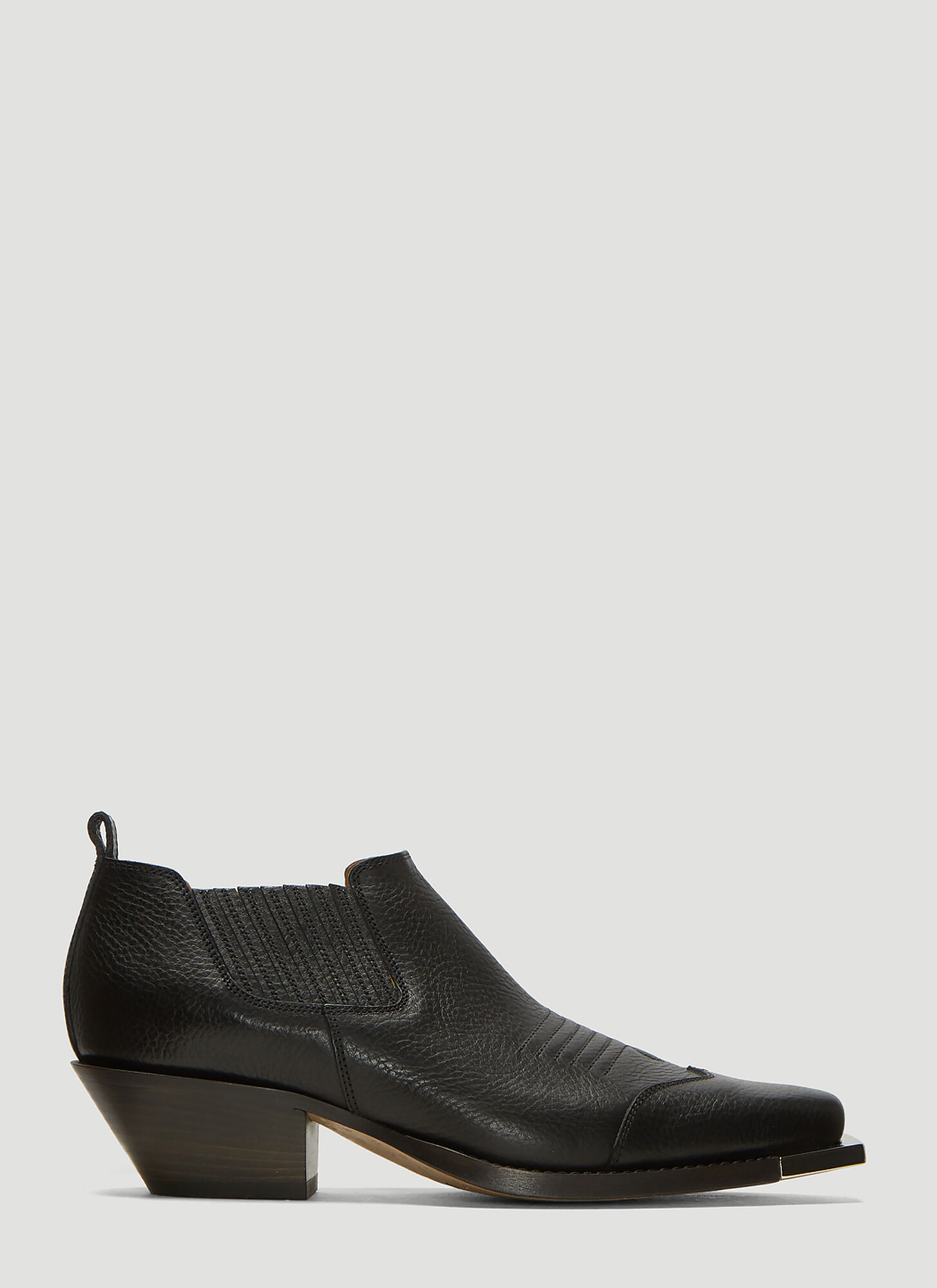 Off-White Cowboy Ankle Boots in Black