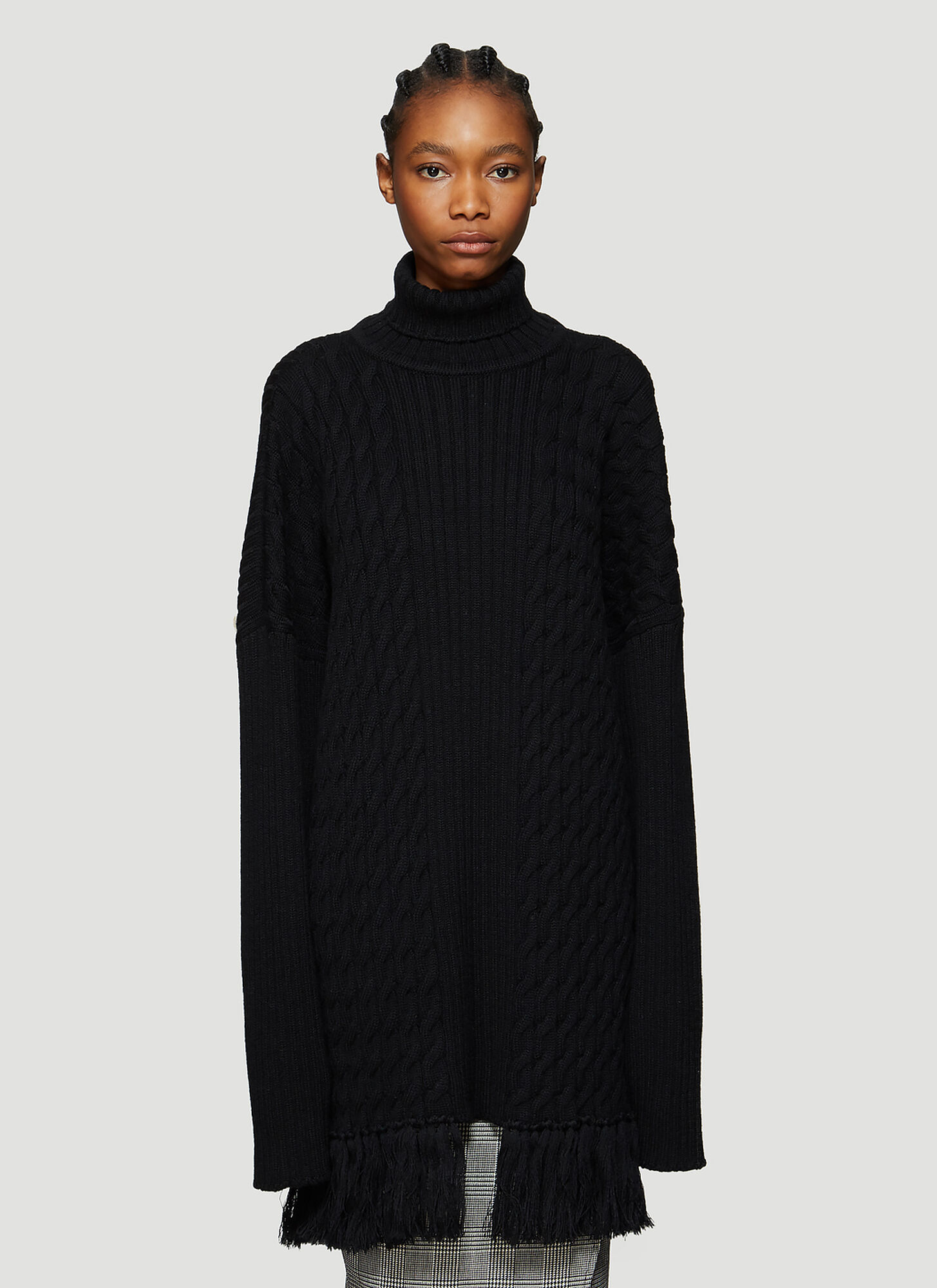 Vetements Oversized Scarf Sweater in Black