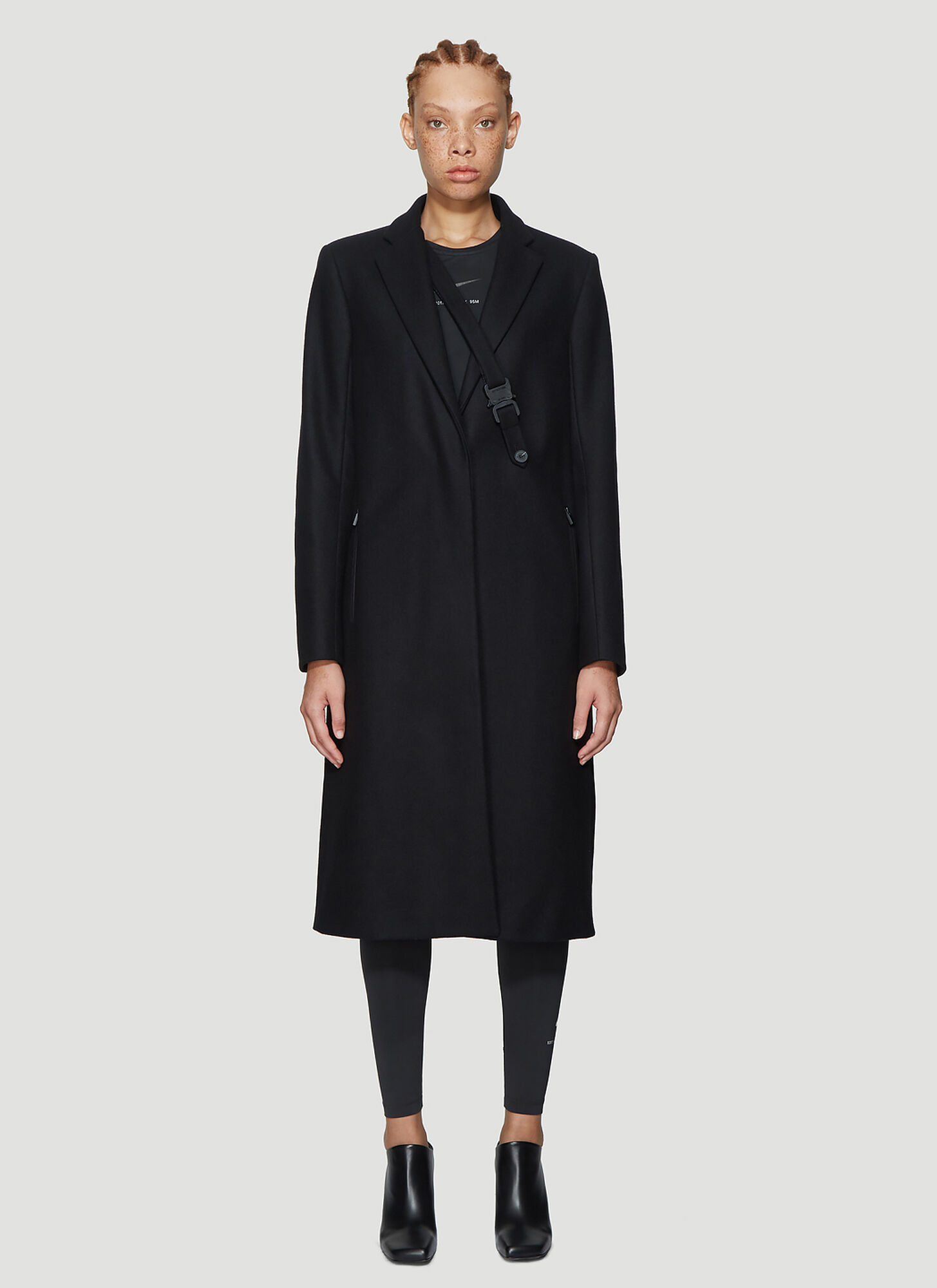 1017 ALYX 9SM Classic Single Vent Coat in Black
