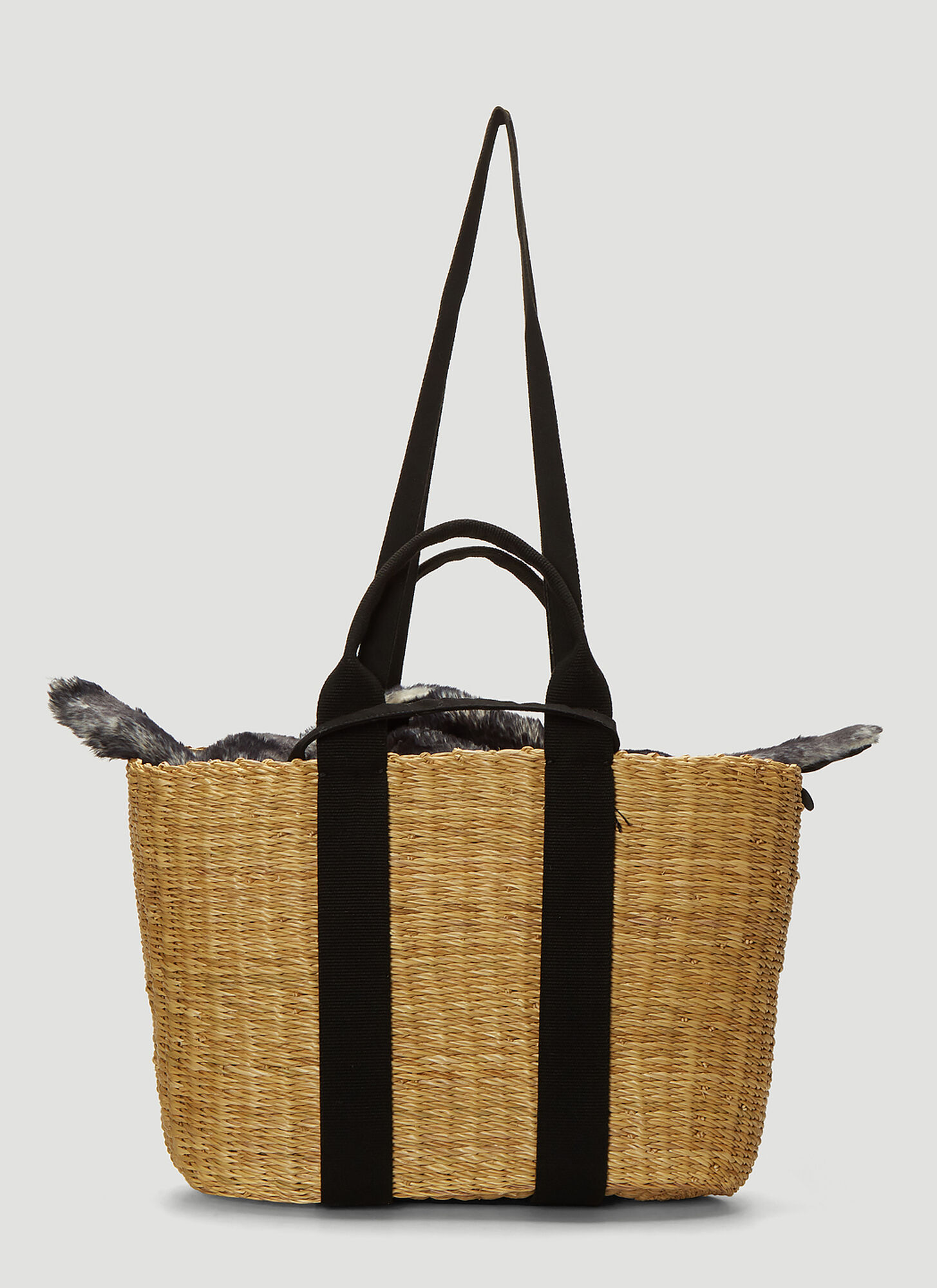 Muun Caba Basket Bag in Beige