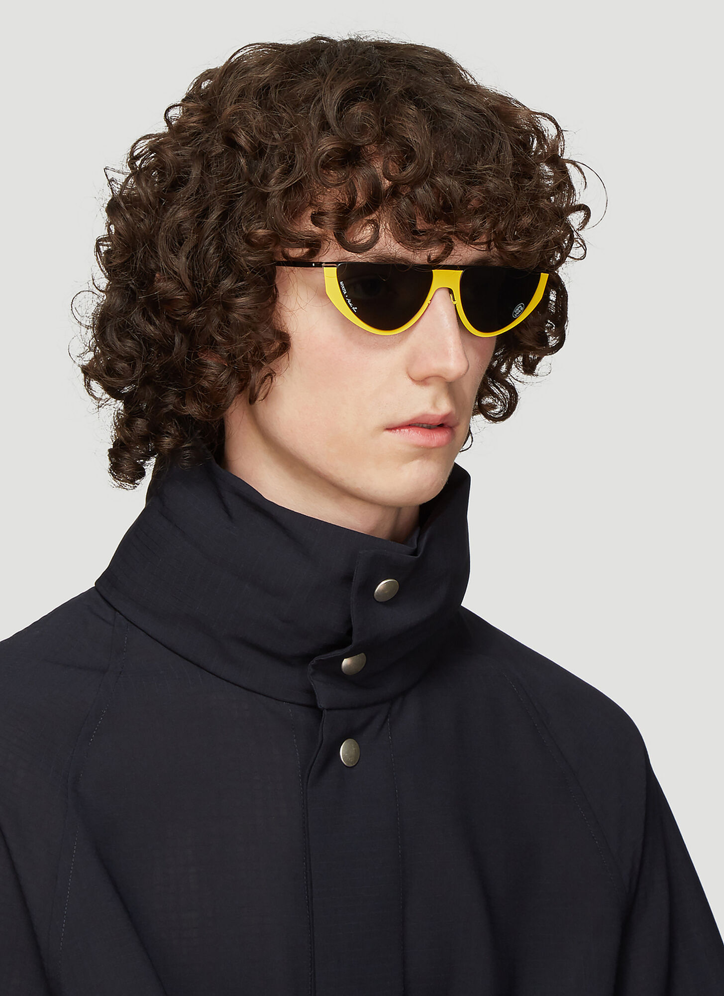 Mykita X Martine Rose Selina Sunglasses in Yellow size One Size