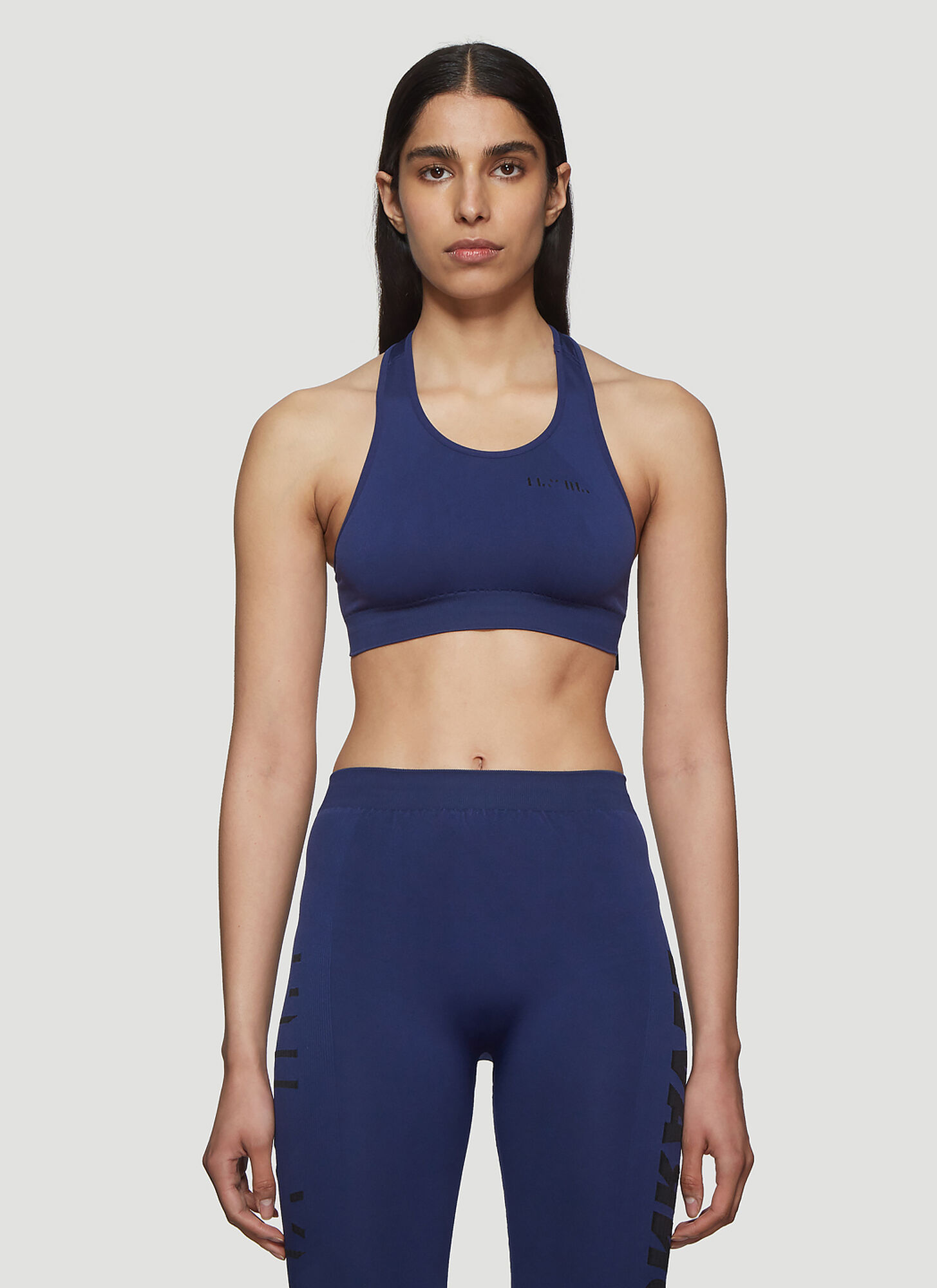 Photo of Unravel Project Tech Seamless Bra Top in Blue - Unravel Project Underwear