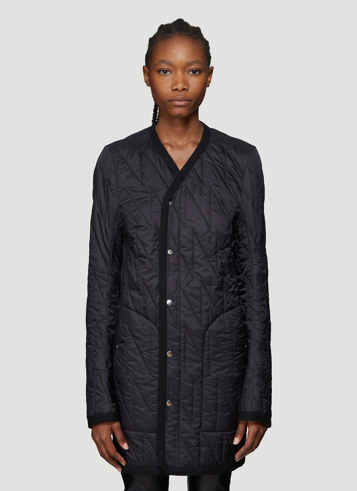 Rick Owens Quilted Jacket in Black