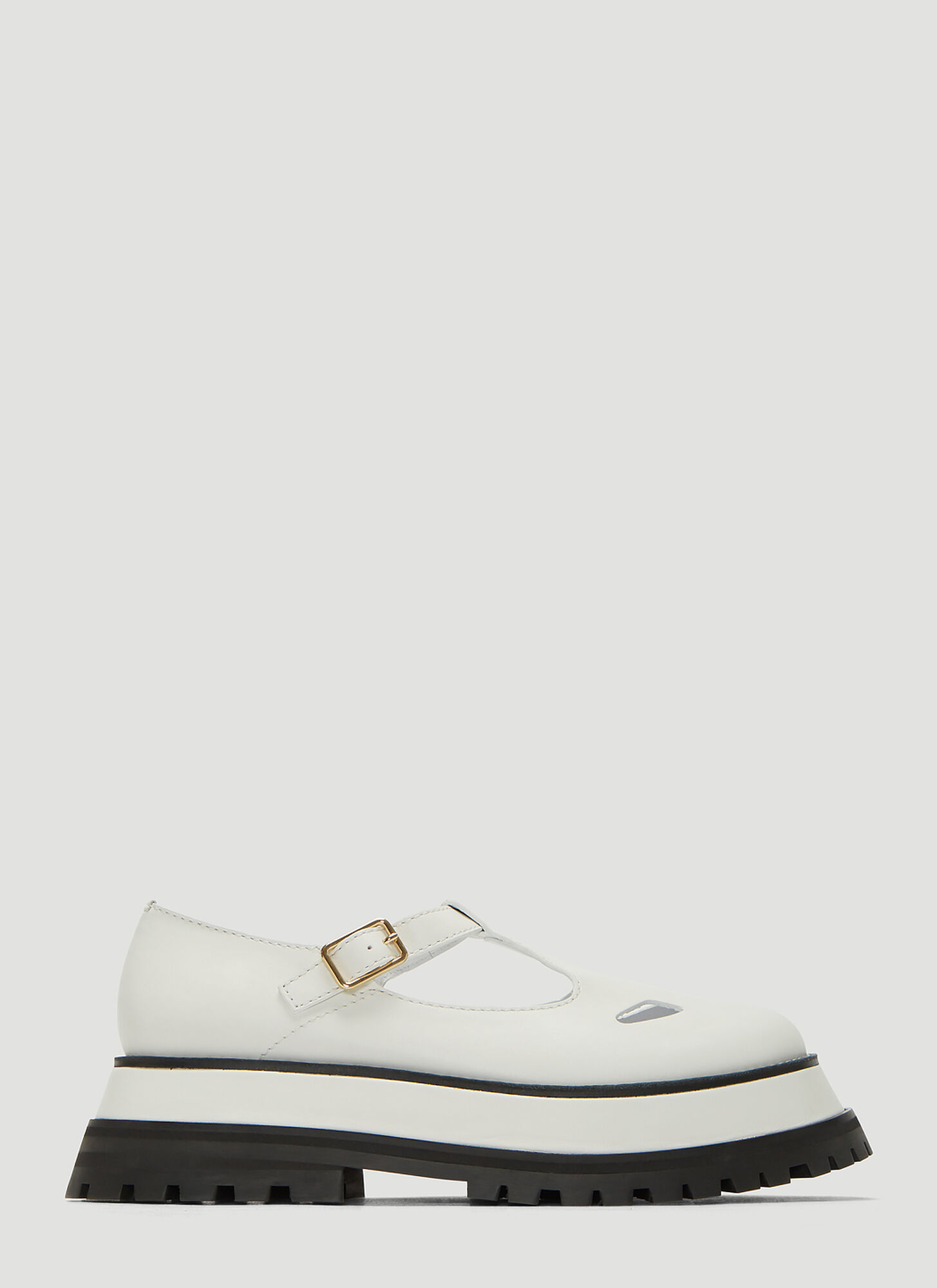 Burberry Aldwych Mary Jane Shoes in White
