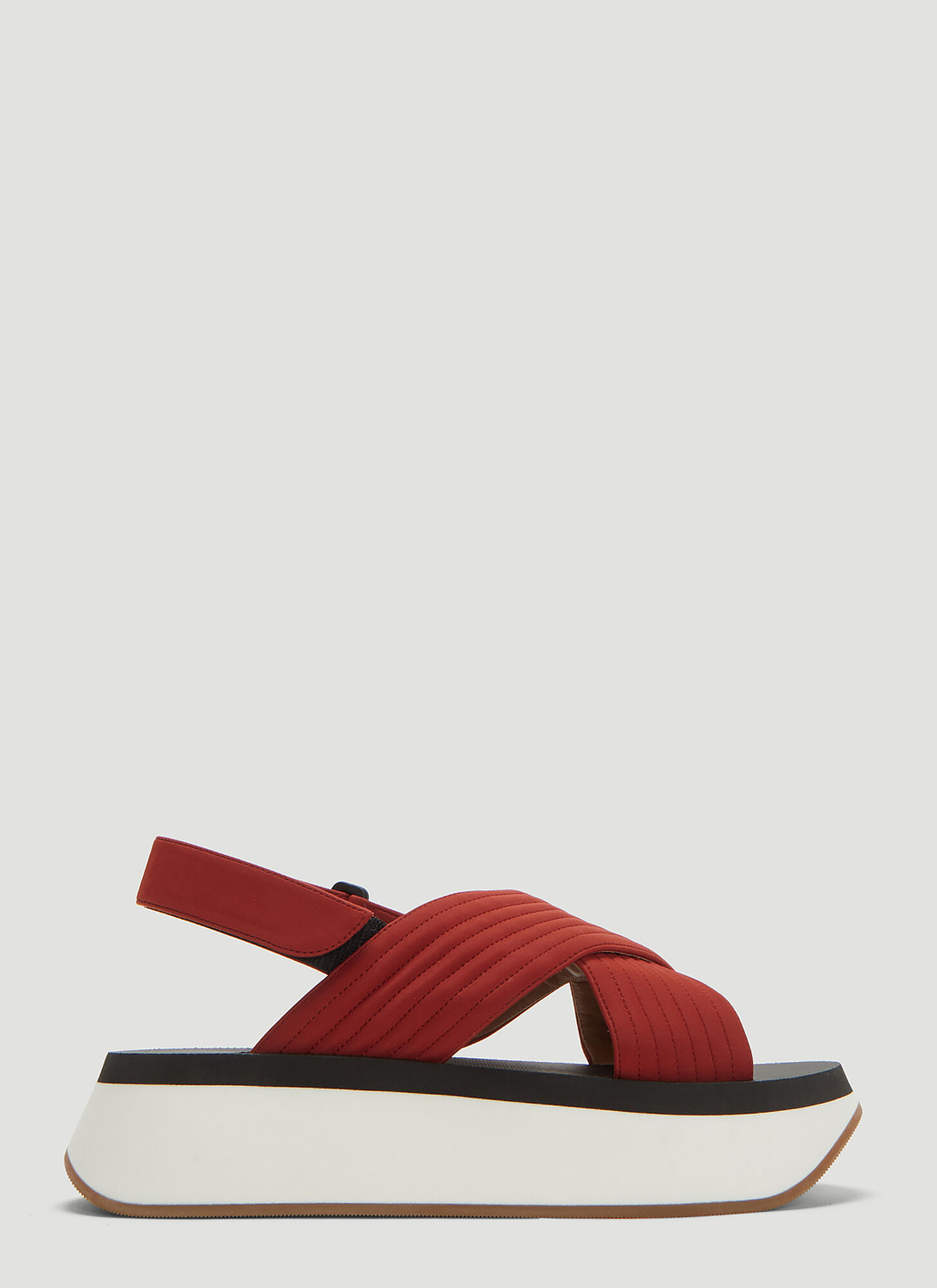 Marni Wedge Sandals in Red