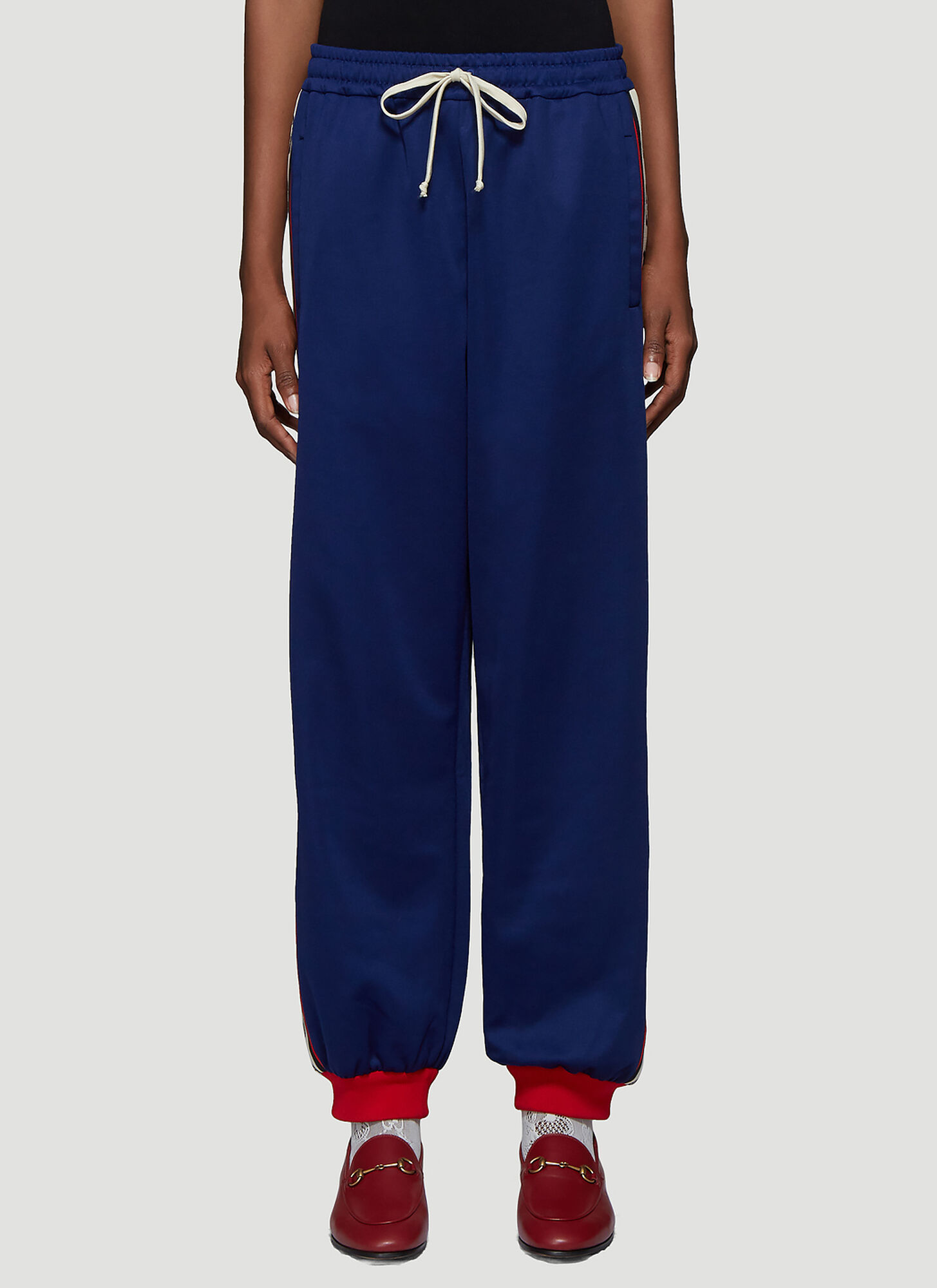 Gucci GG Trim Track Pants in Blue