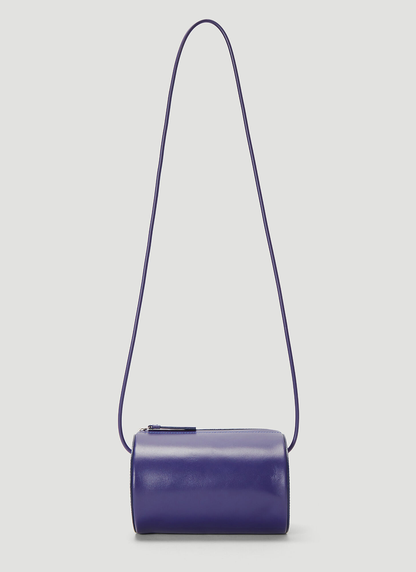 Building Block Cylinder Sling Bag in Blue