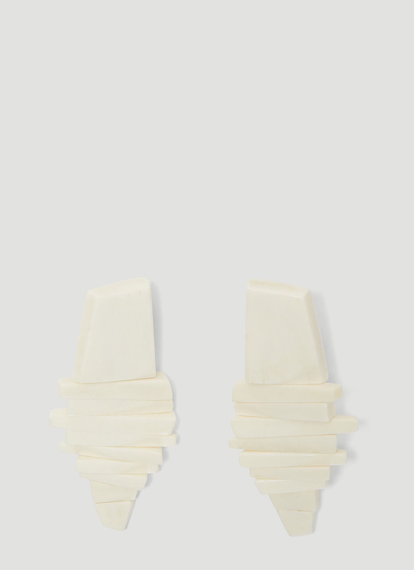 Monies Julie Clip On Earrings in White