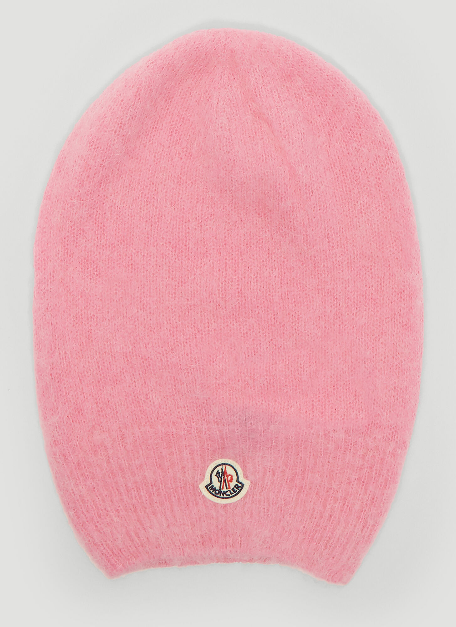 Photo of Moncler Tricot Knitted Beanie Hat in Pink - Moncler Hats