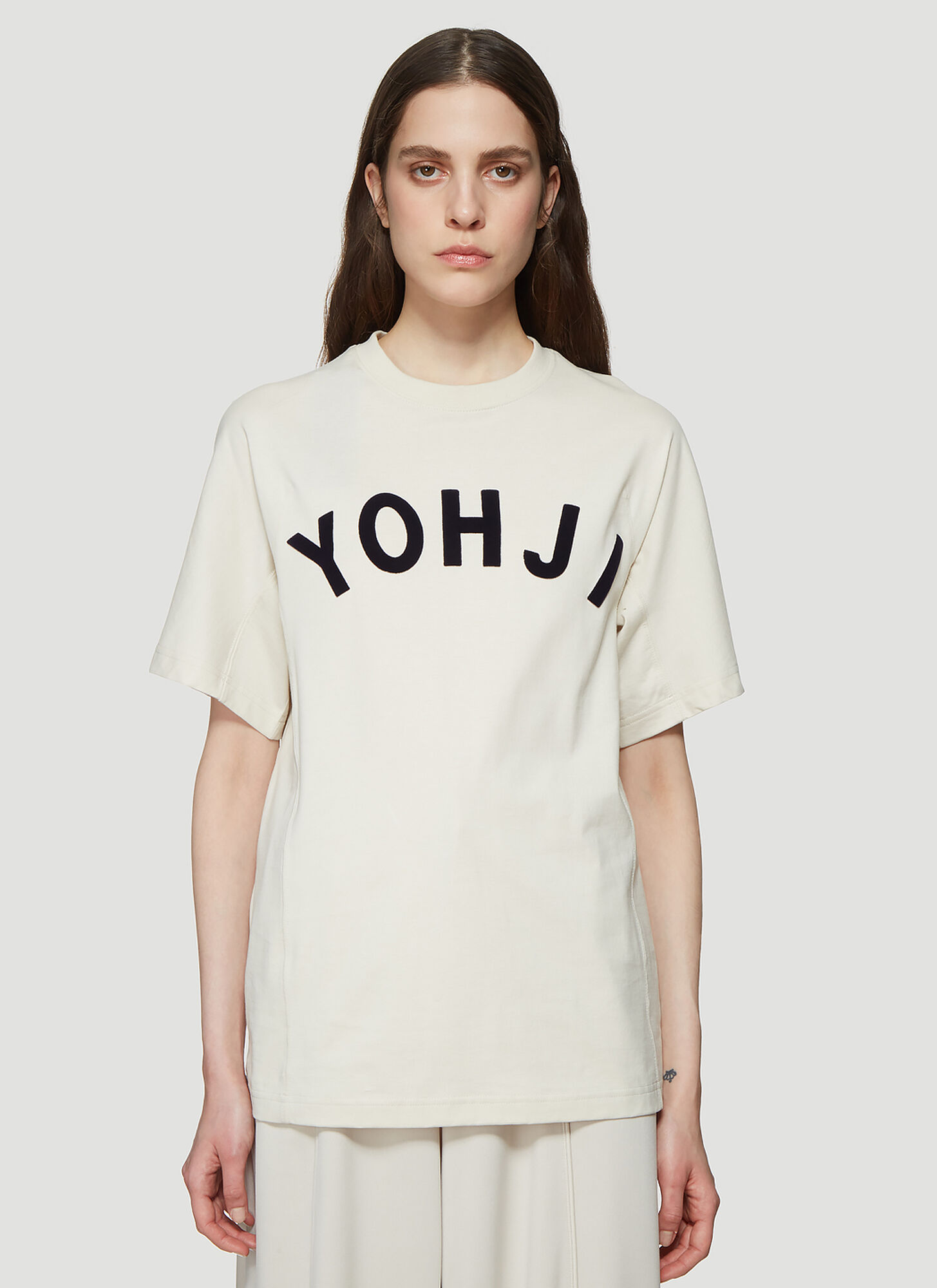 Y-3 Yohji Logo T-Shirt in Cream