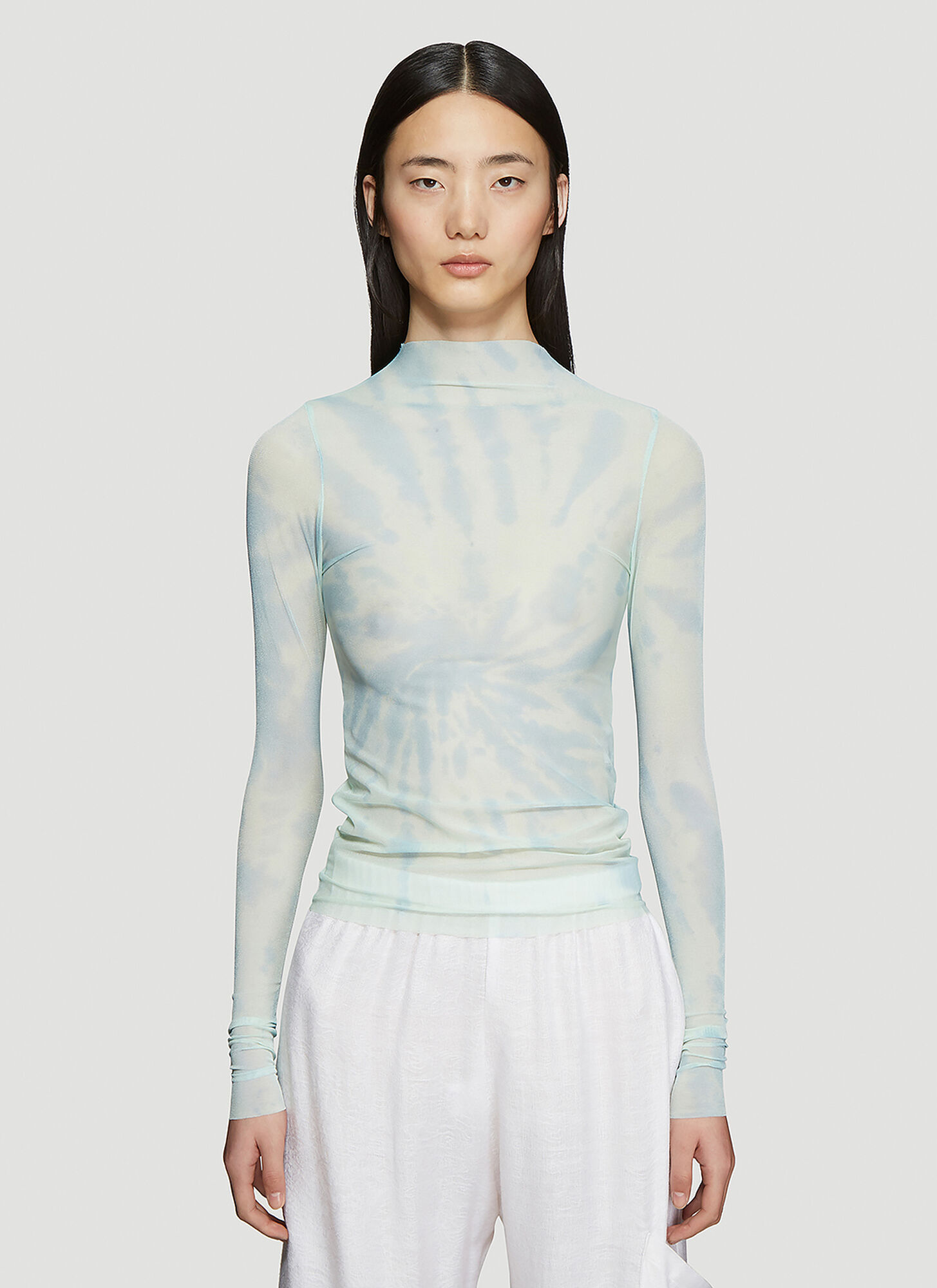 Collina Strada Cardio Nova Tie-Dye Long Sleeve Top in Blu