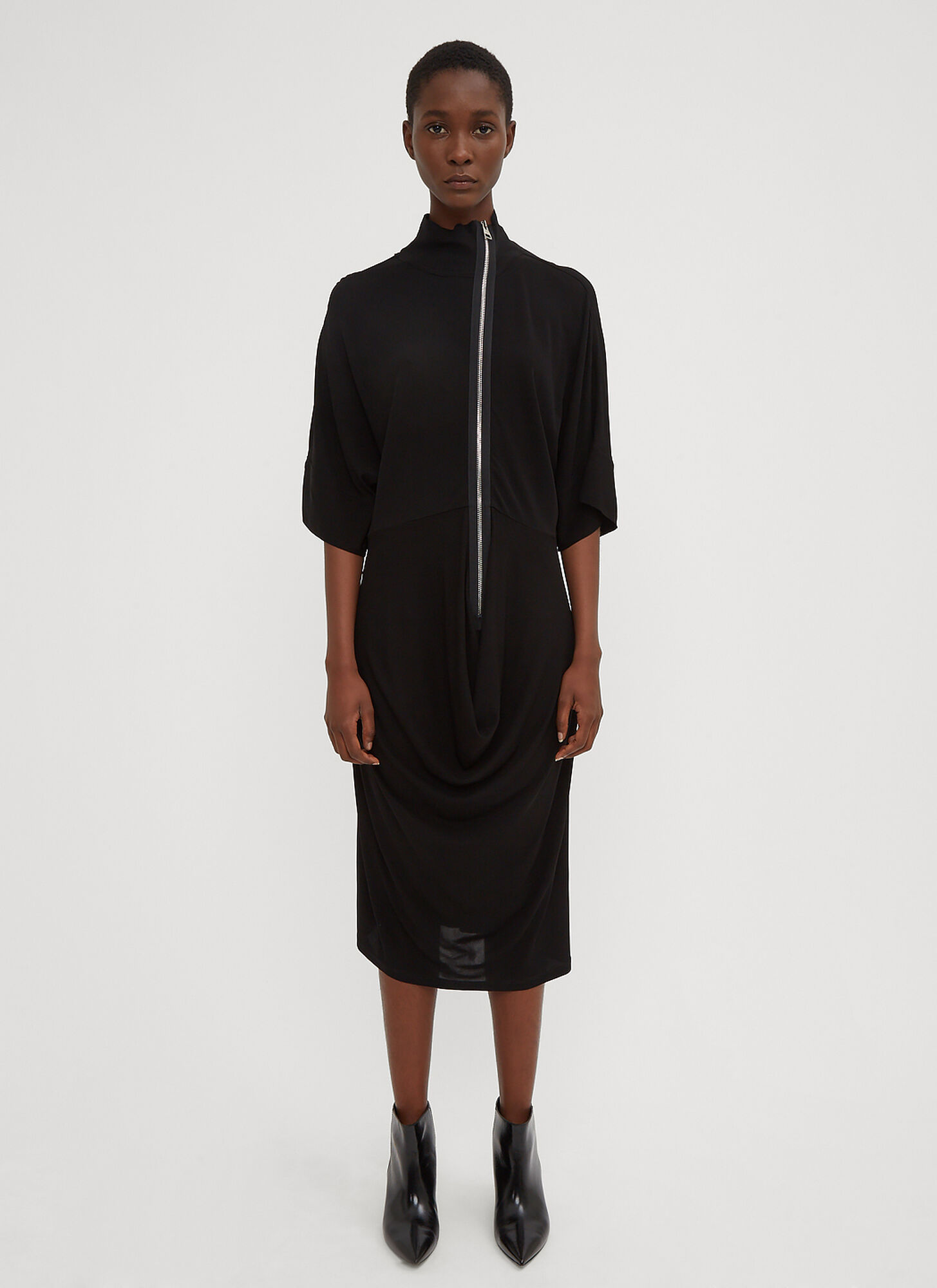 JW Anderson Draped Skirt Dress in Black