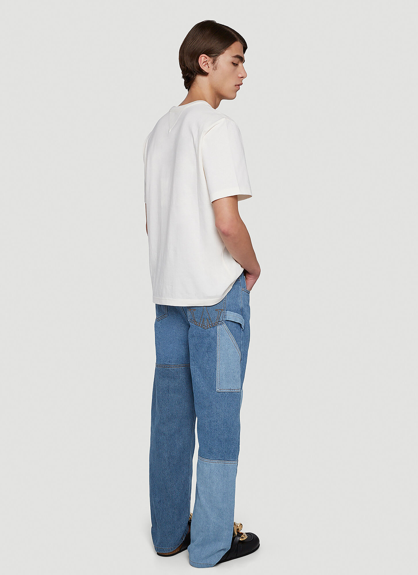 JW Anderson Patchwork Straight-Leg Jeans